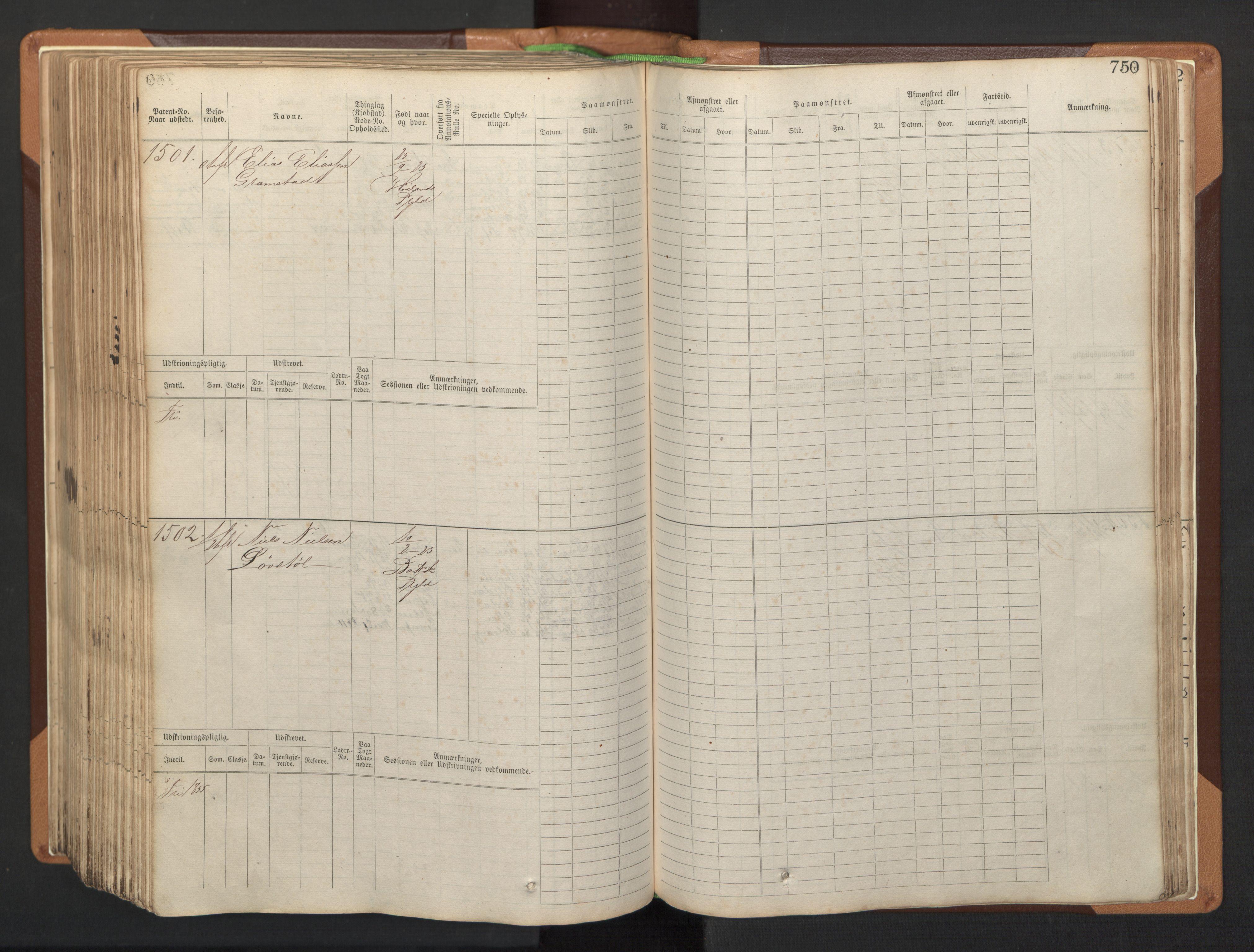 SAST, Stavanger sjømannskontor, F/Fb/Fbb/L0005: Sjøfartshovedrulle, patentnr. 793-1606 (del 2), 1869-1880, s. 362