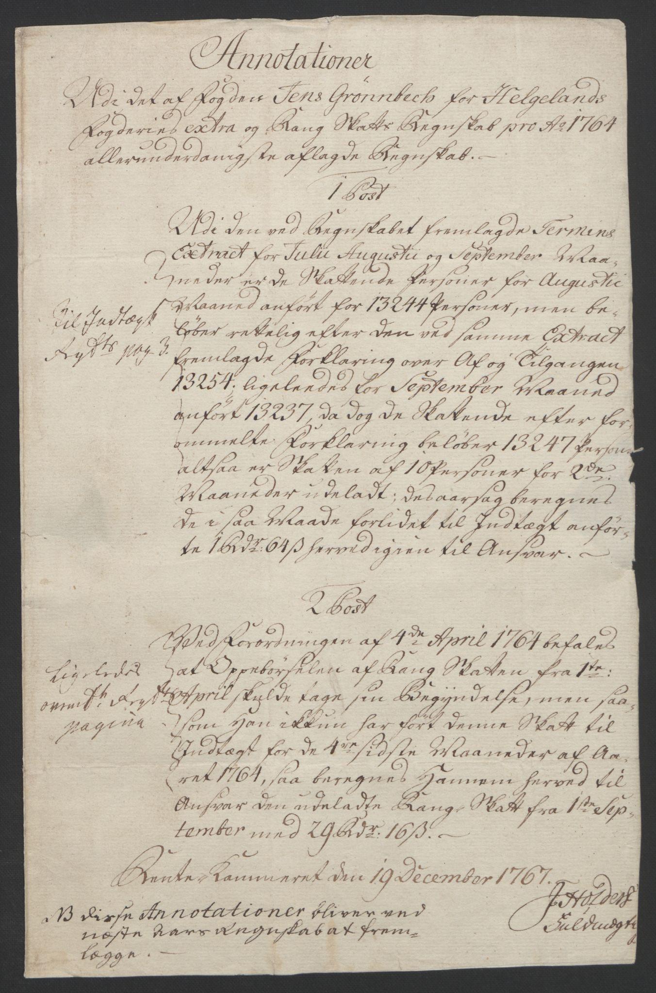 RA, Rentekammeret inntil 1814, Reviderte regnskaper, Fogderegnskap, R65/L4573: Ekstraskatten Helgeland, 1762-1772, s. 201