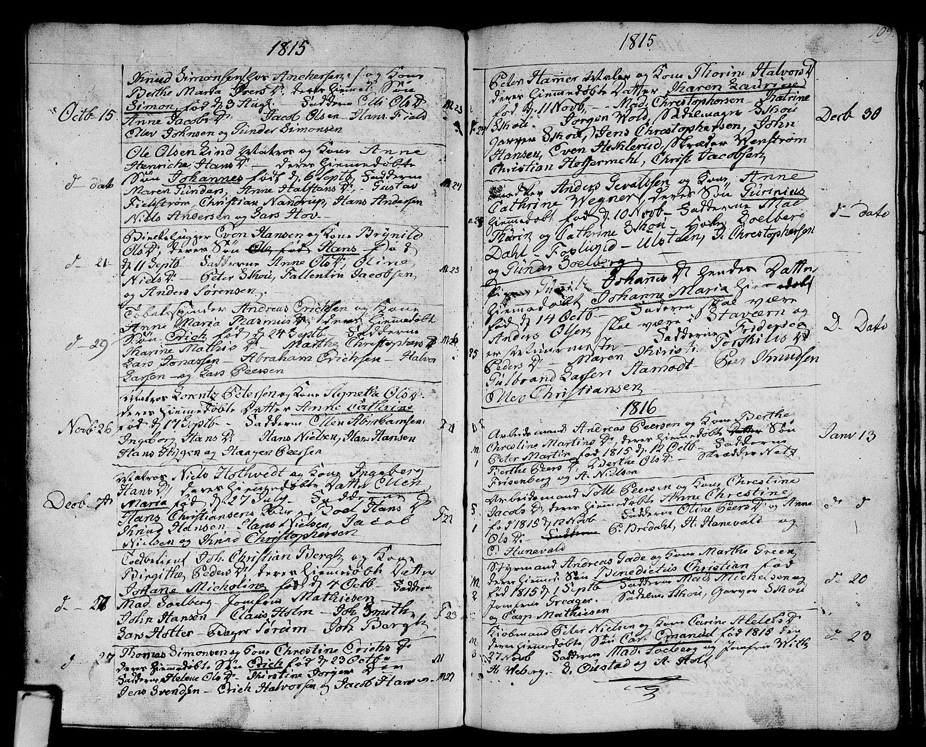 SAKO, Strømsø kirkebøker, F/Fa/L0010: Ministerialbok nr. I 10, 1792-1822, s. 109