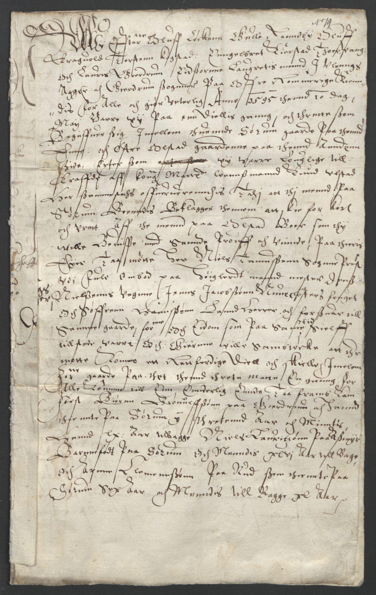 SAO, Oslo stiftsdireksjon, G/Gb/L0001: Bispestolens dokumenter, 1584-1612, s. 19