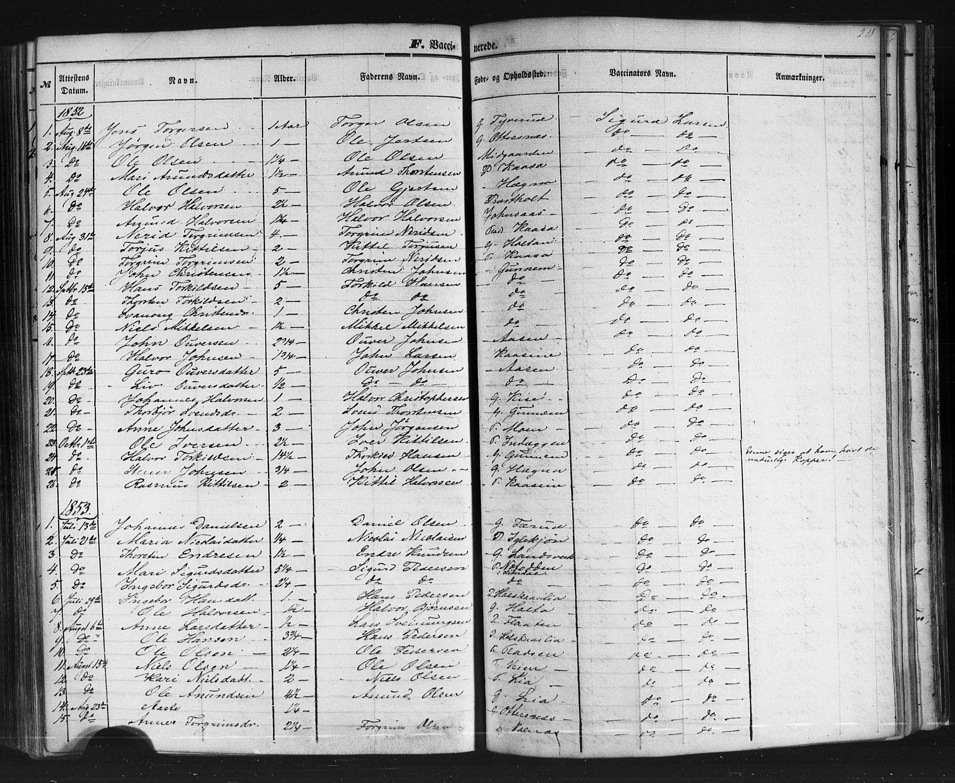 SAKO, Sauherad kirkebøker, F/Fb/L0001: Ministerialbok nr. II 1, 1851-1877, s. 218