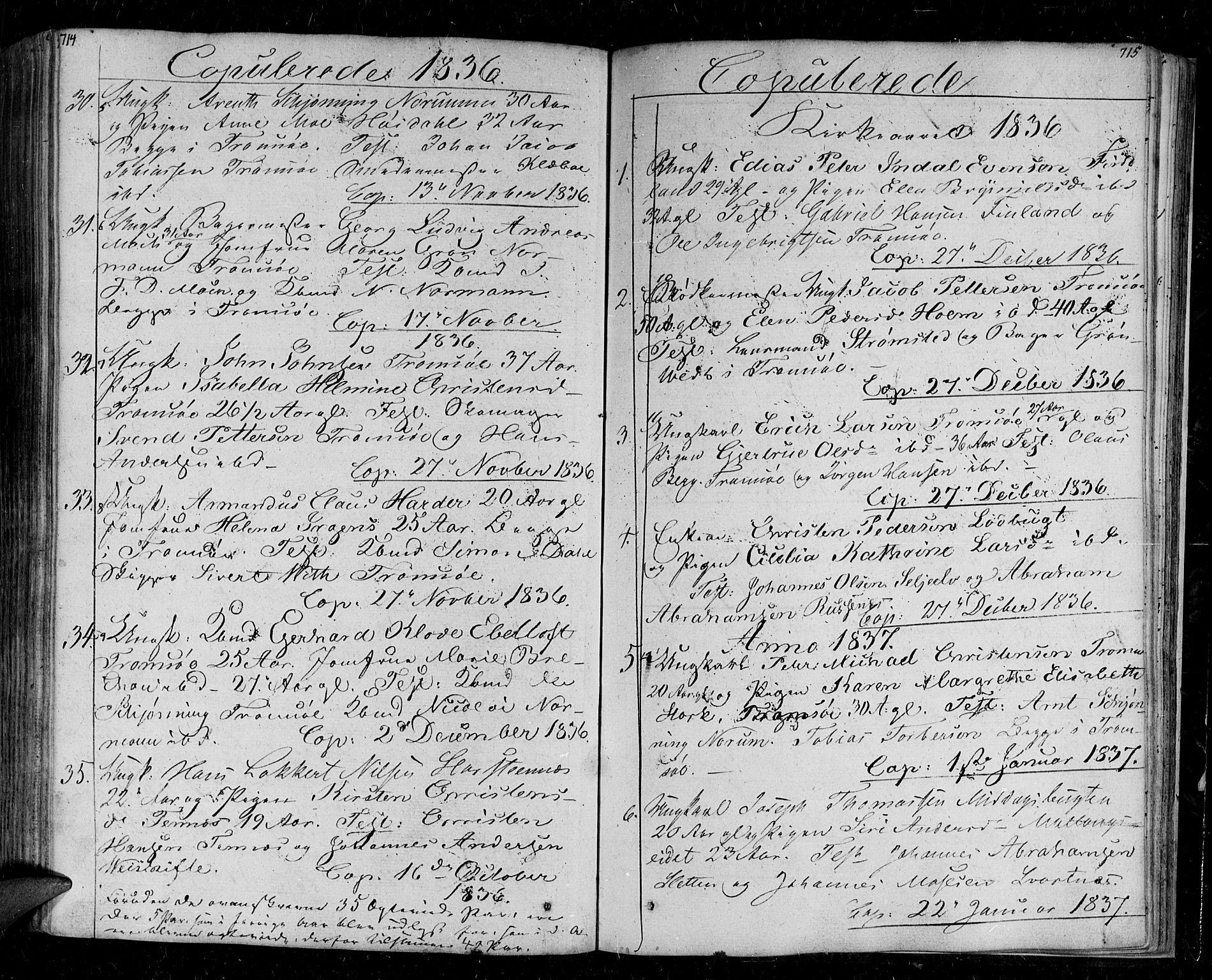 SATØ, Tromsø sokneprestkontor/stiftsprosti/domprosti, G/Ga/L0008kirke: Ministerialbok nr. 8, 1829-1837, s. 714-715