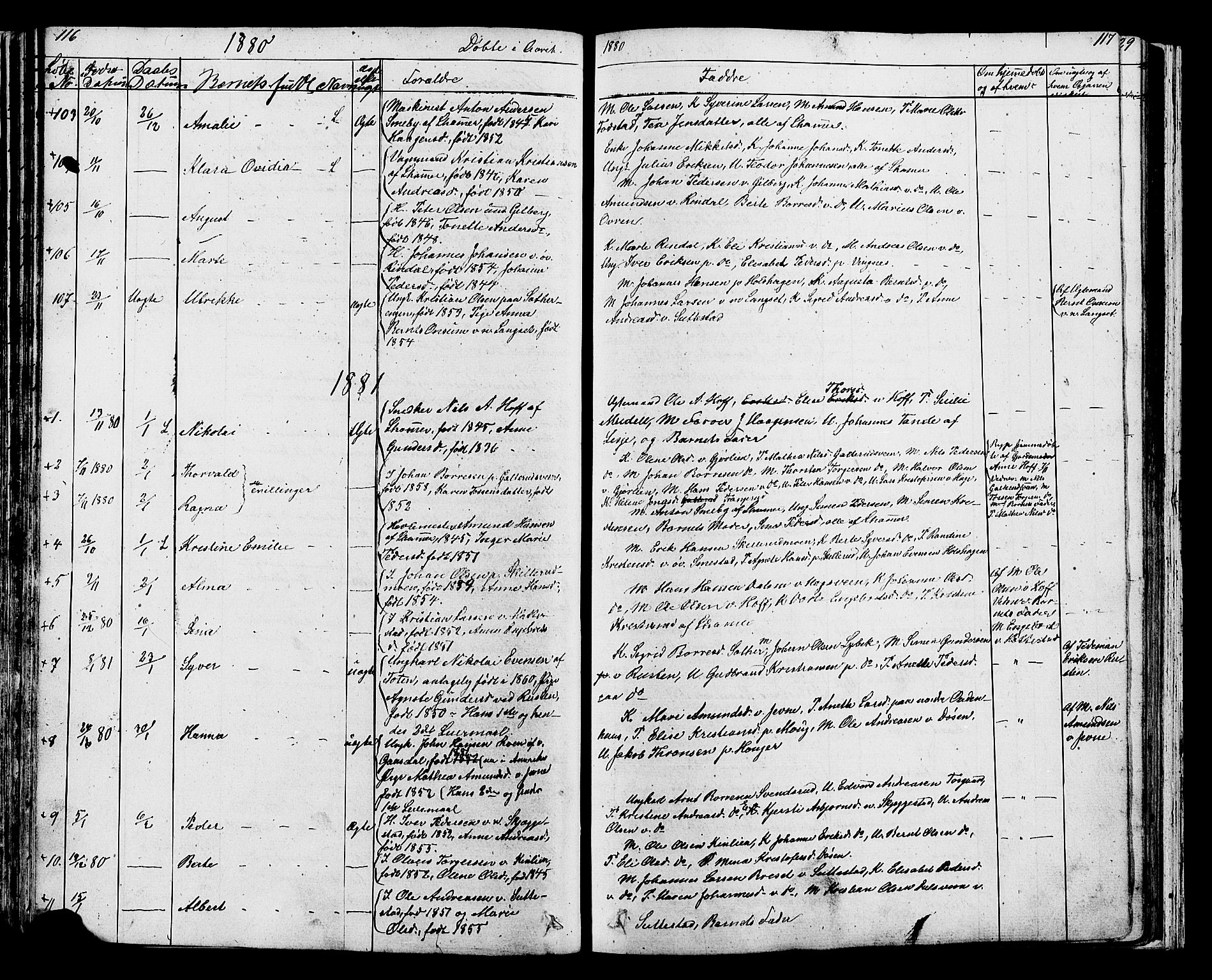 SAH, Fåberg prestekontor, Klokkerbok nr. 7, 1856-1891, s. 116-117