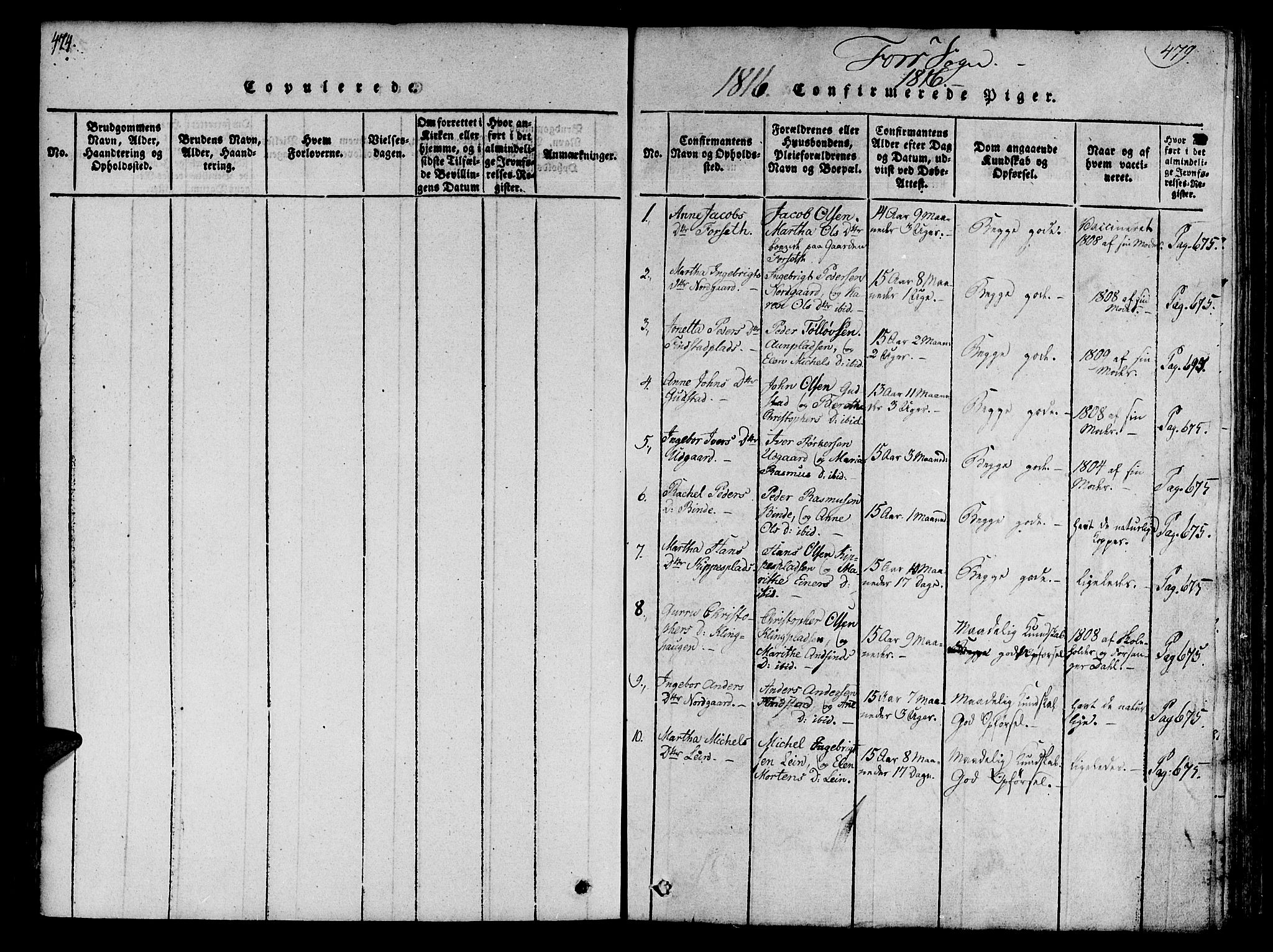 SAT, Ministerialprotokoller, klokkerbøker og fødselsregistre - Nord-Trøndelag, 746/L0441: Ministerialbok nr. 746A03 /1, 1816-1827, s. 474-479