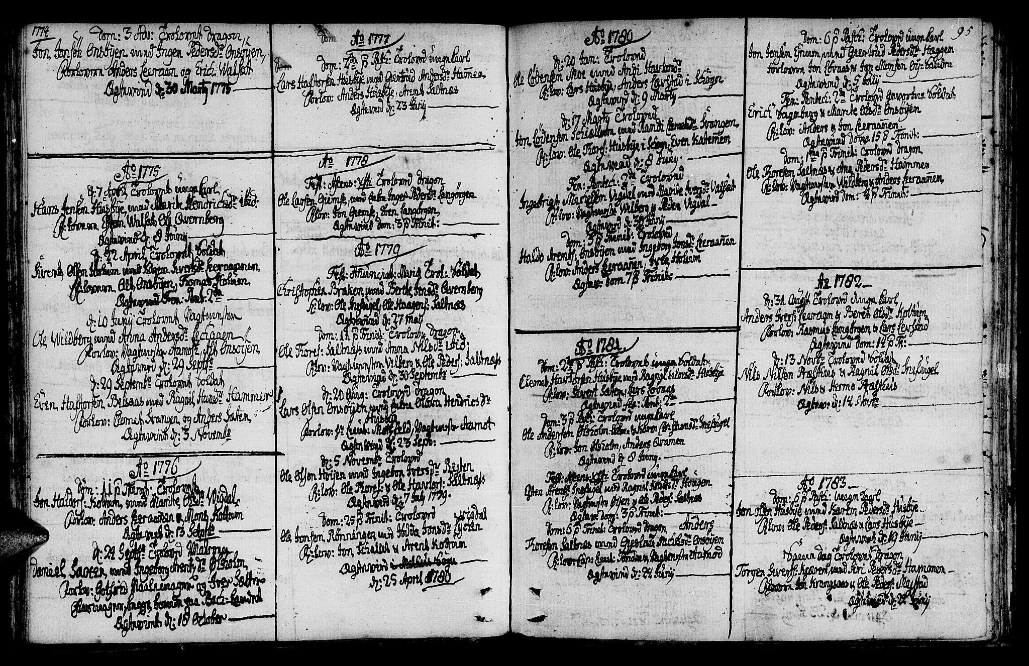 SAT, Ministerialprotokoller, klokkerbøker og fødselsregistre - Sør-Trøndelag, 666/L0784: Ministerialbok nr. 666A02, 1754-1802, s. 95