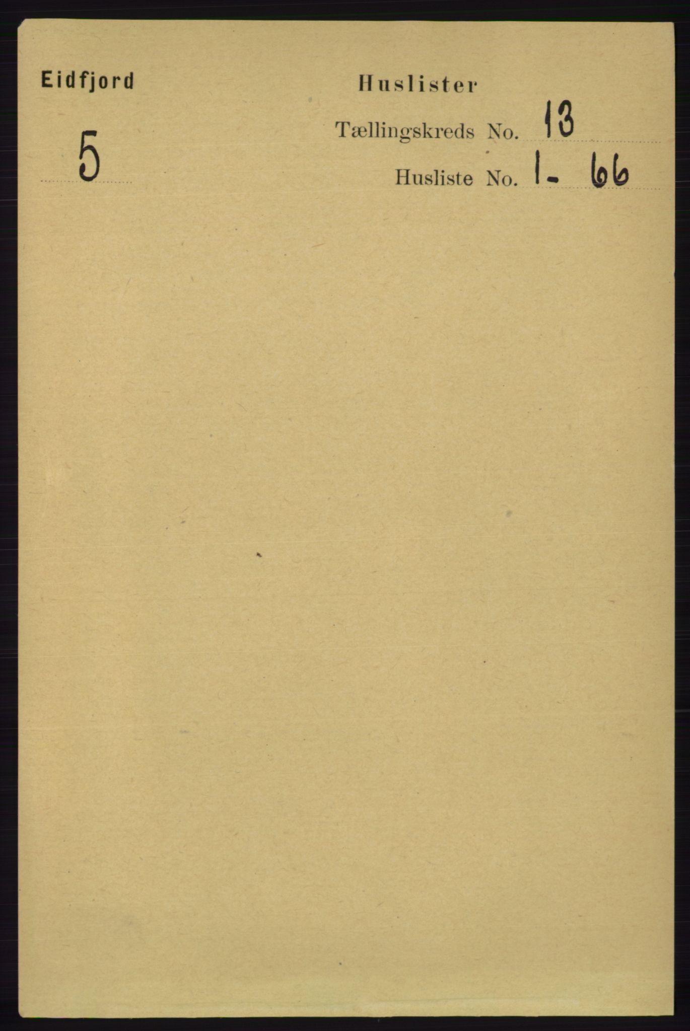 RA, Folketelling 1891 for 1233 Ulvik herred, 1891, s. 3827