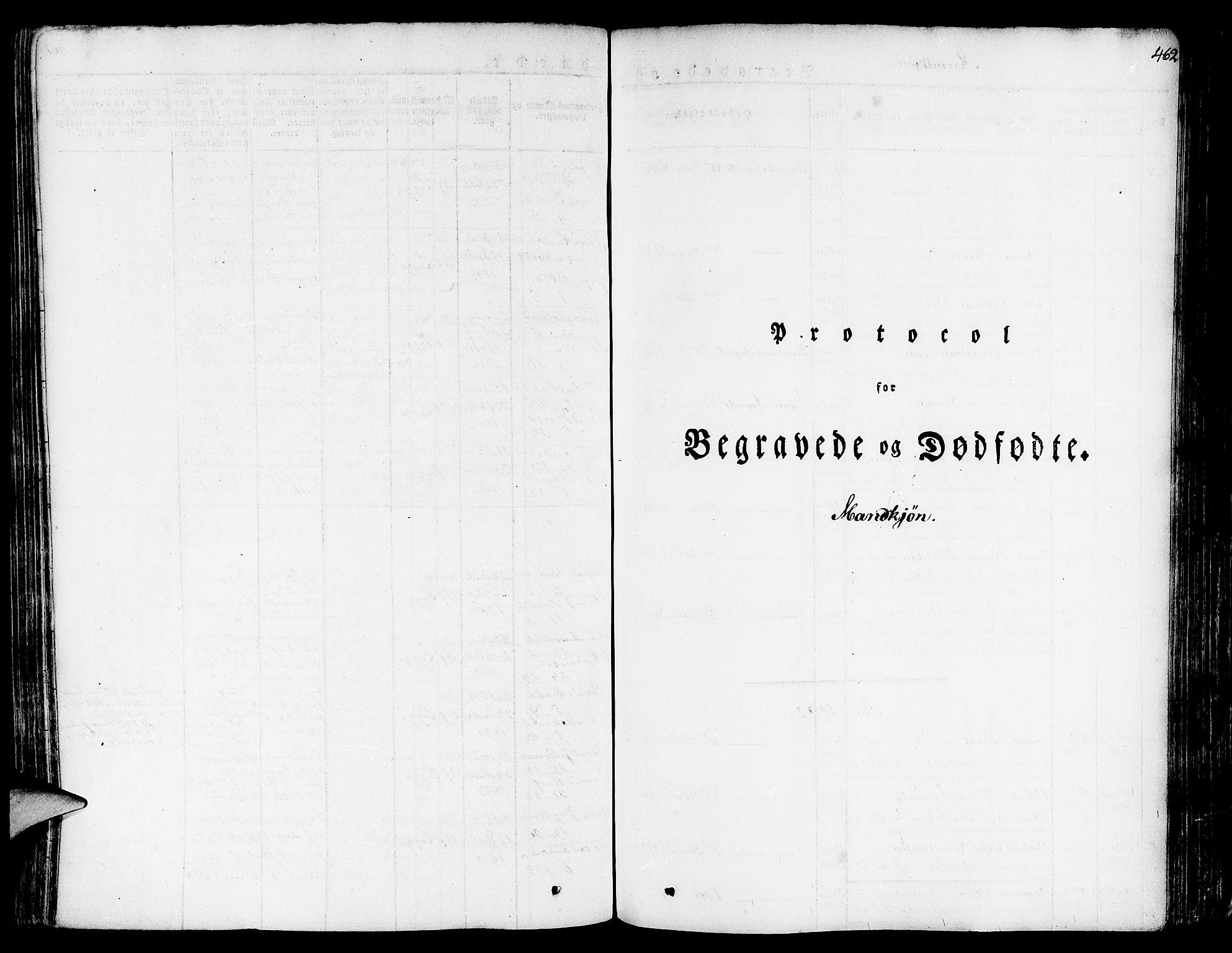 SAB, Nykirken Sokneprestembete, H/Haa: Ministerialbok nr. A 12, 1821-1844, s. 462