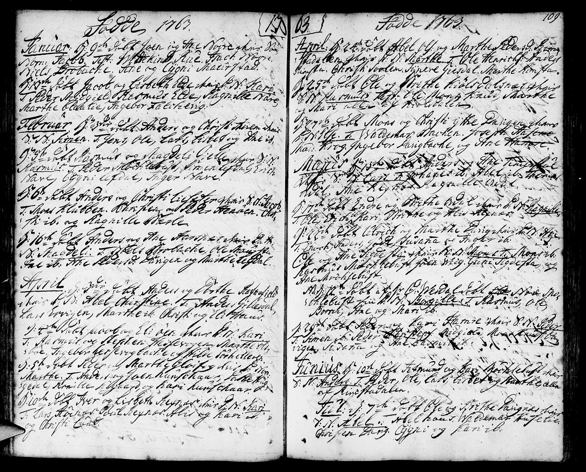 SAB, Davik Sokneprestembete, Ministerialbok nr. A 2, 1742-1816, s. 109