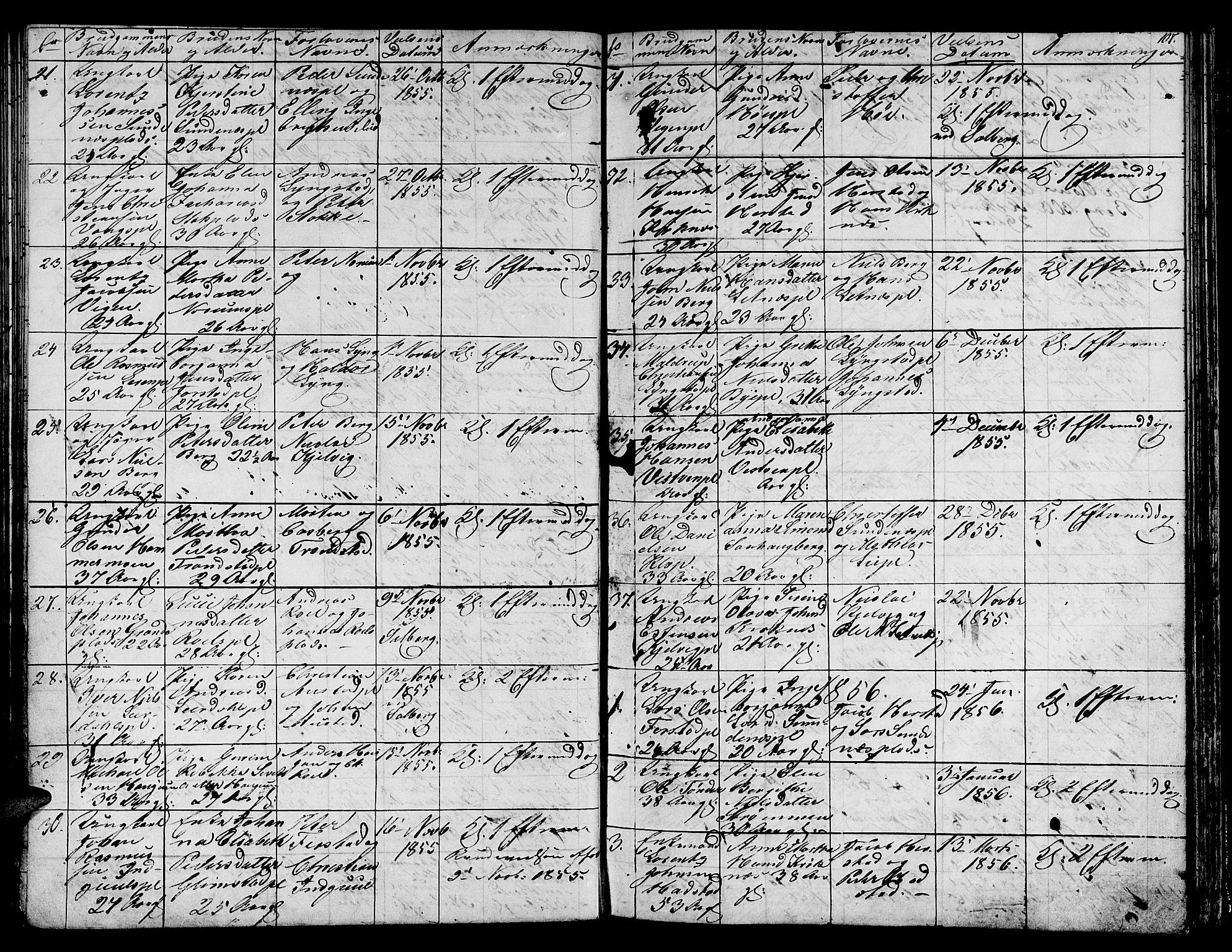 SAT, Ministerialprotokoller, klokkerbøker og fødselsregistre - Nord-Trøndelag, 730/L0299: Klokkerbok nr. 730C02, 1849-1871, s. 107