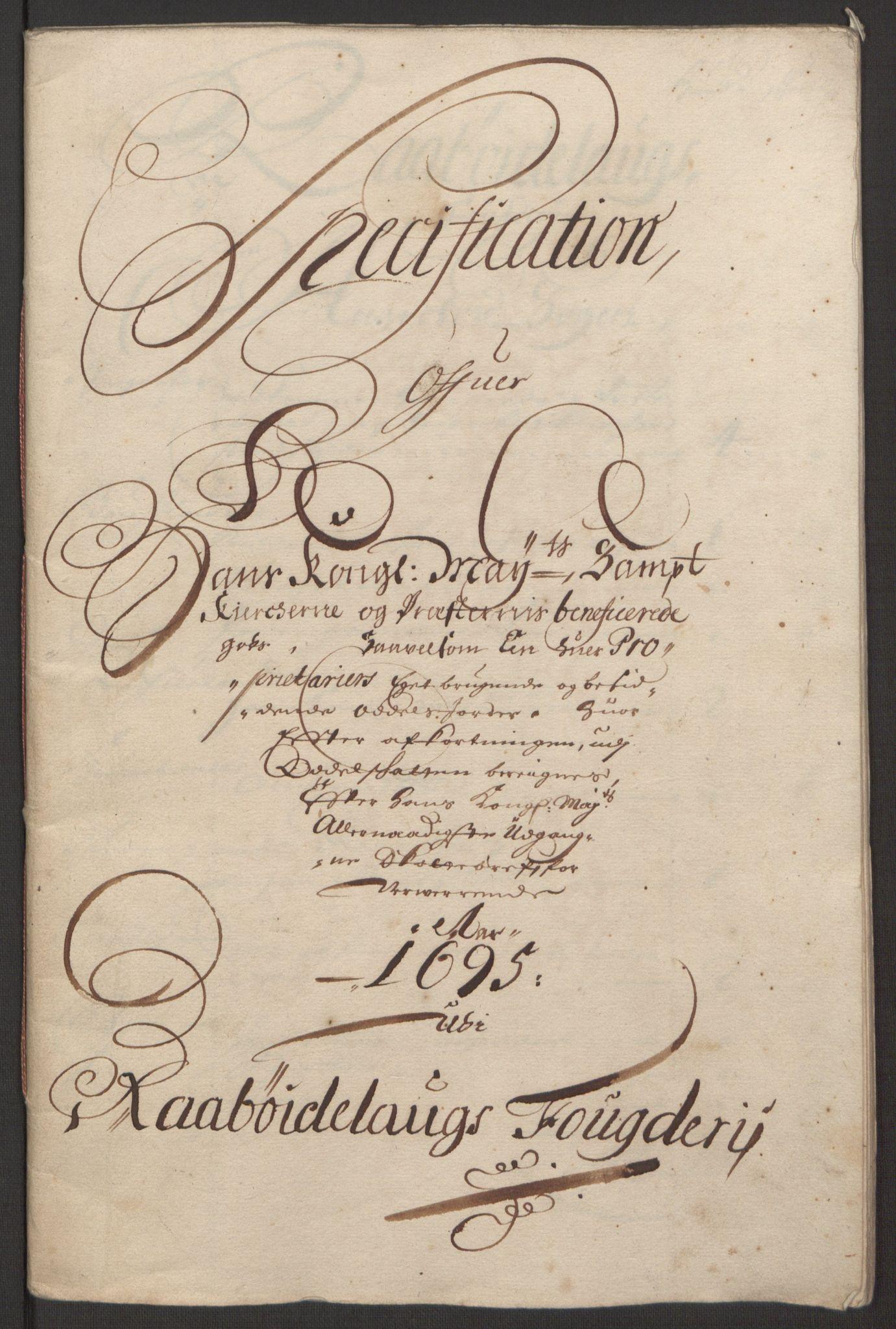 RA, Rentekammeret inntil 1814, Reviderte regnskaper, Fogderegnskap, R40/L2444: Fogderegnskap Råbyggelag, 1693-1696, s. 251
