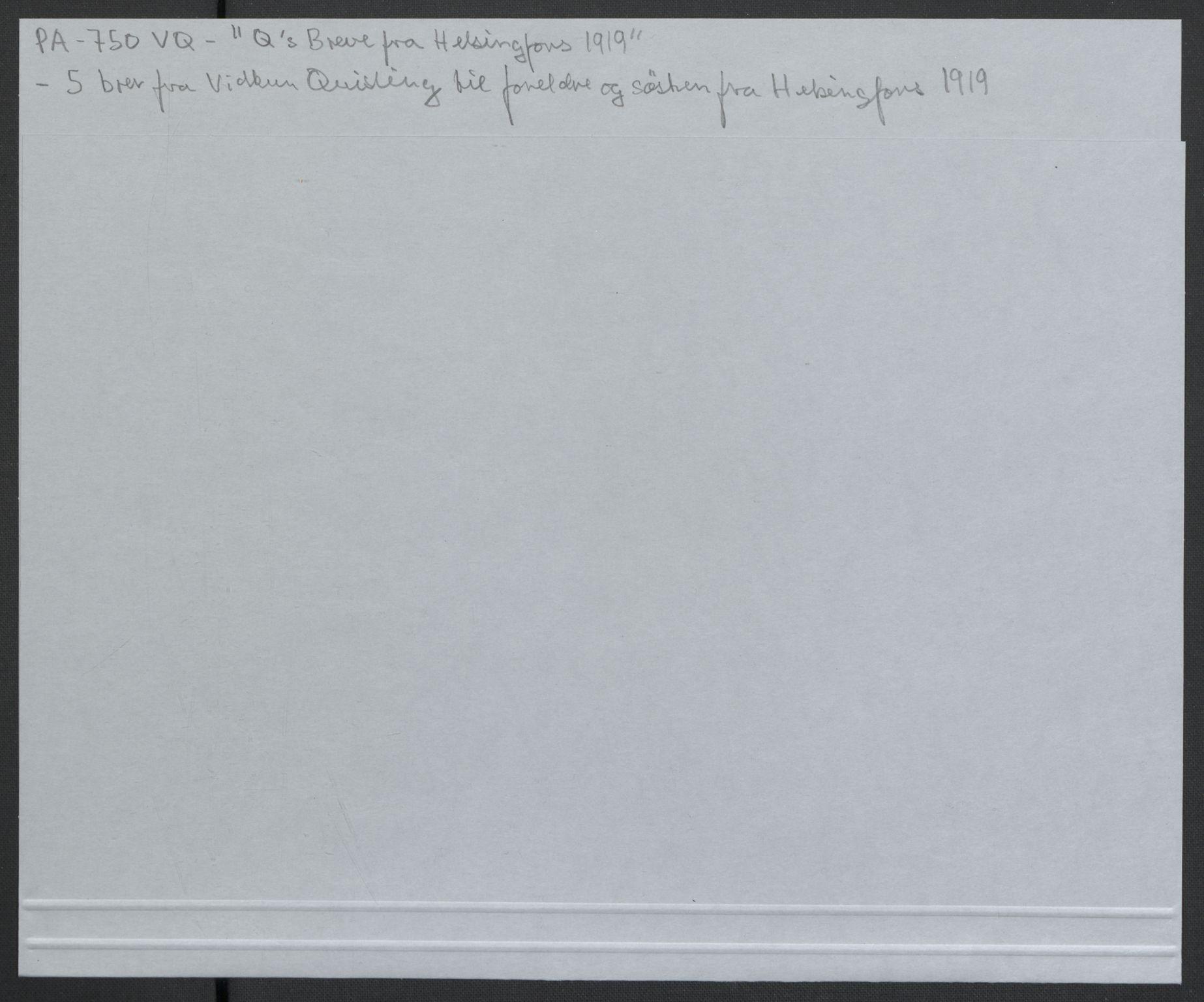 RA, Quisling, Vidkun, K/L0001: Brev til og fra Vidkun Quisling samt til og fra andre medlemmer av familien Quisling + karakterbøker, 1894-1929, s. 137