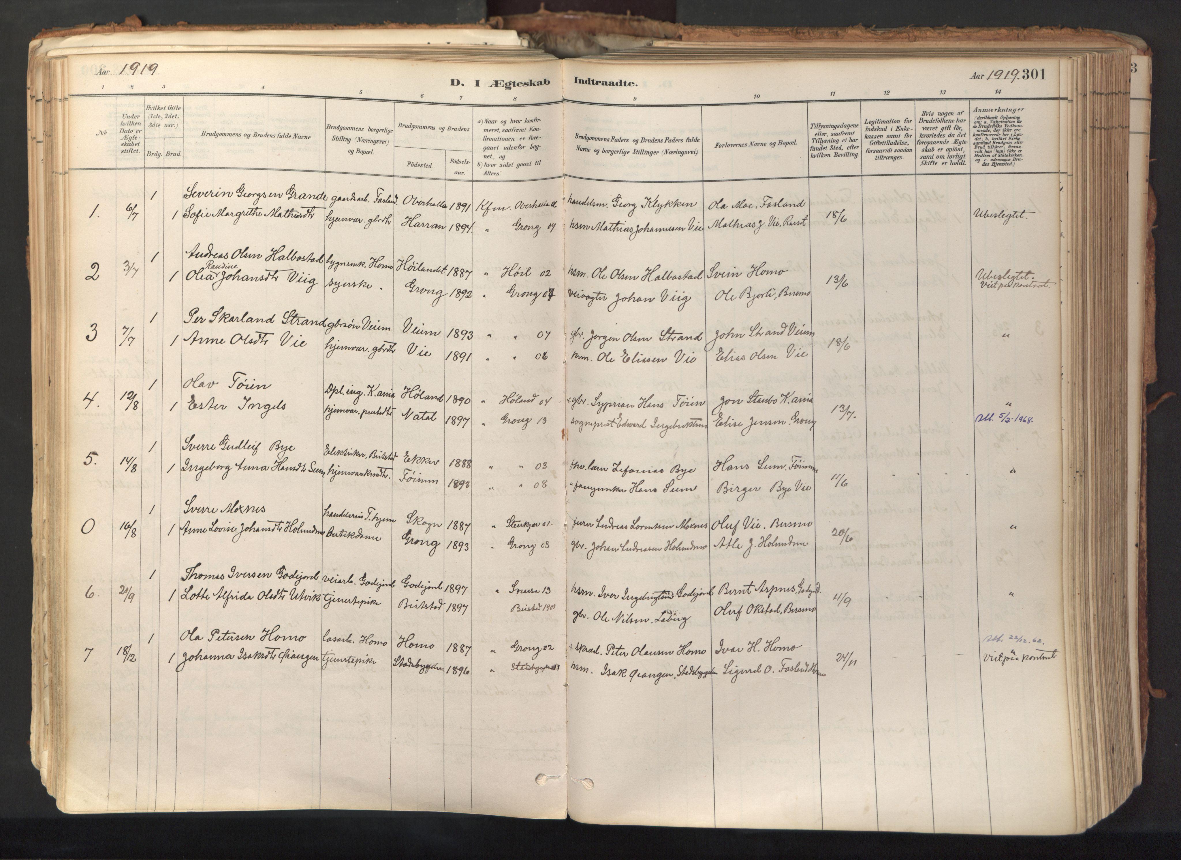 SAT, Ministerialprotokoller, klokkerbøker og fødselsregistre - Nord-Trøndelag, 758/L0519: Ministerialbok nr. 758A04, 1880-1926, s. 301