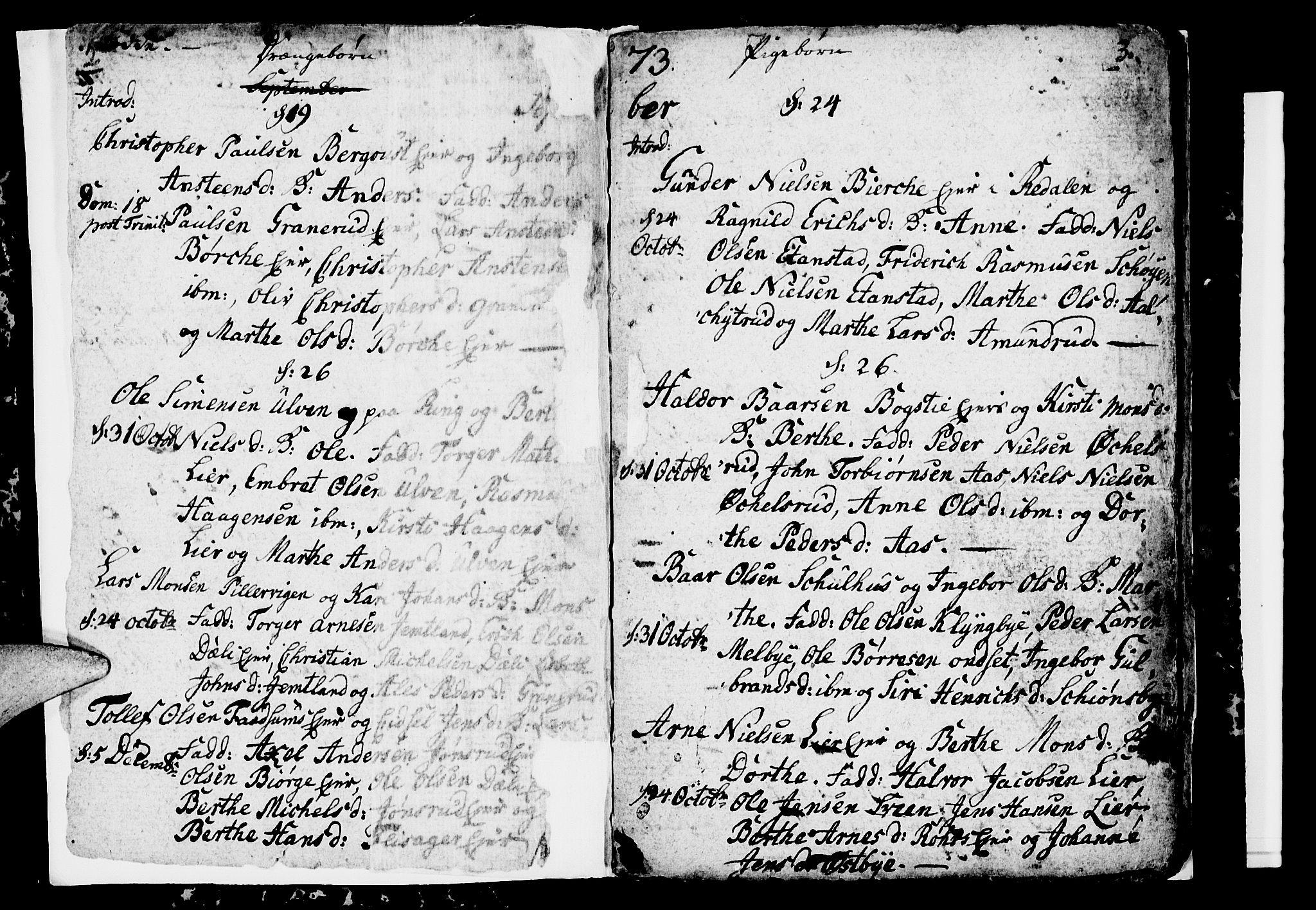 SAH, Ringsaker prestekontor, I/Ia/L0005/0001: Kladd til kirkebok nr. 1A, 1773-1775, s. 2-3
