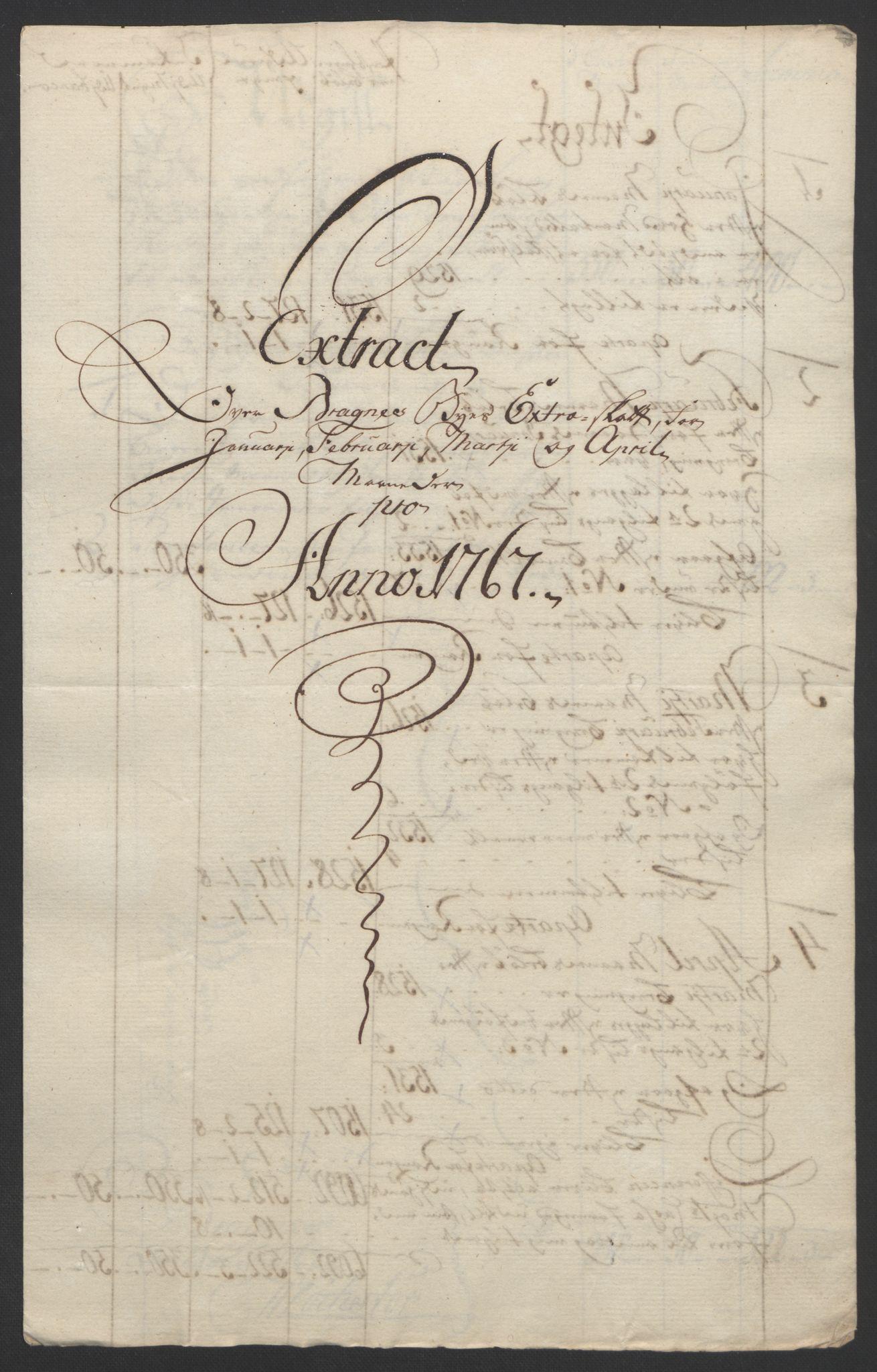 RA, Rentekammeret inntil 1814, Reviderte regnskaper, Byregnskaper, R/Rf/L0119: [F2] Kontribusjonsregnskap, 1762-1767, s. 390