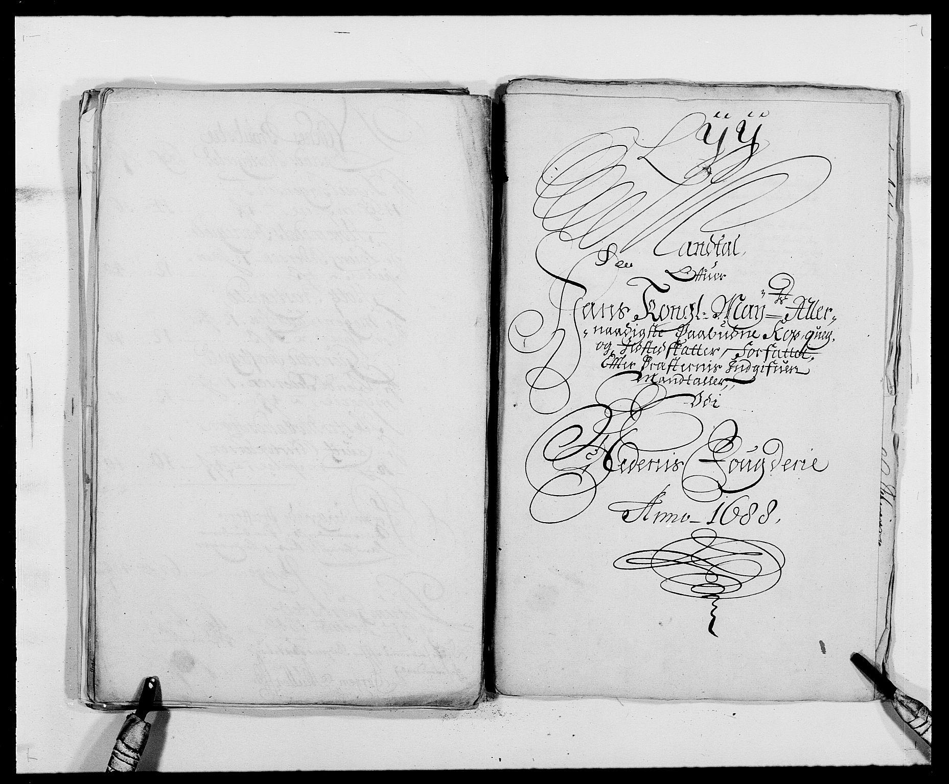 RA, Rentekammeret inntil 1814, Reviderte regnskaper, Fogderegnskap, R39/L2309: Fogderegnskap Nedenes, 1684-1689, s. 260