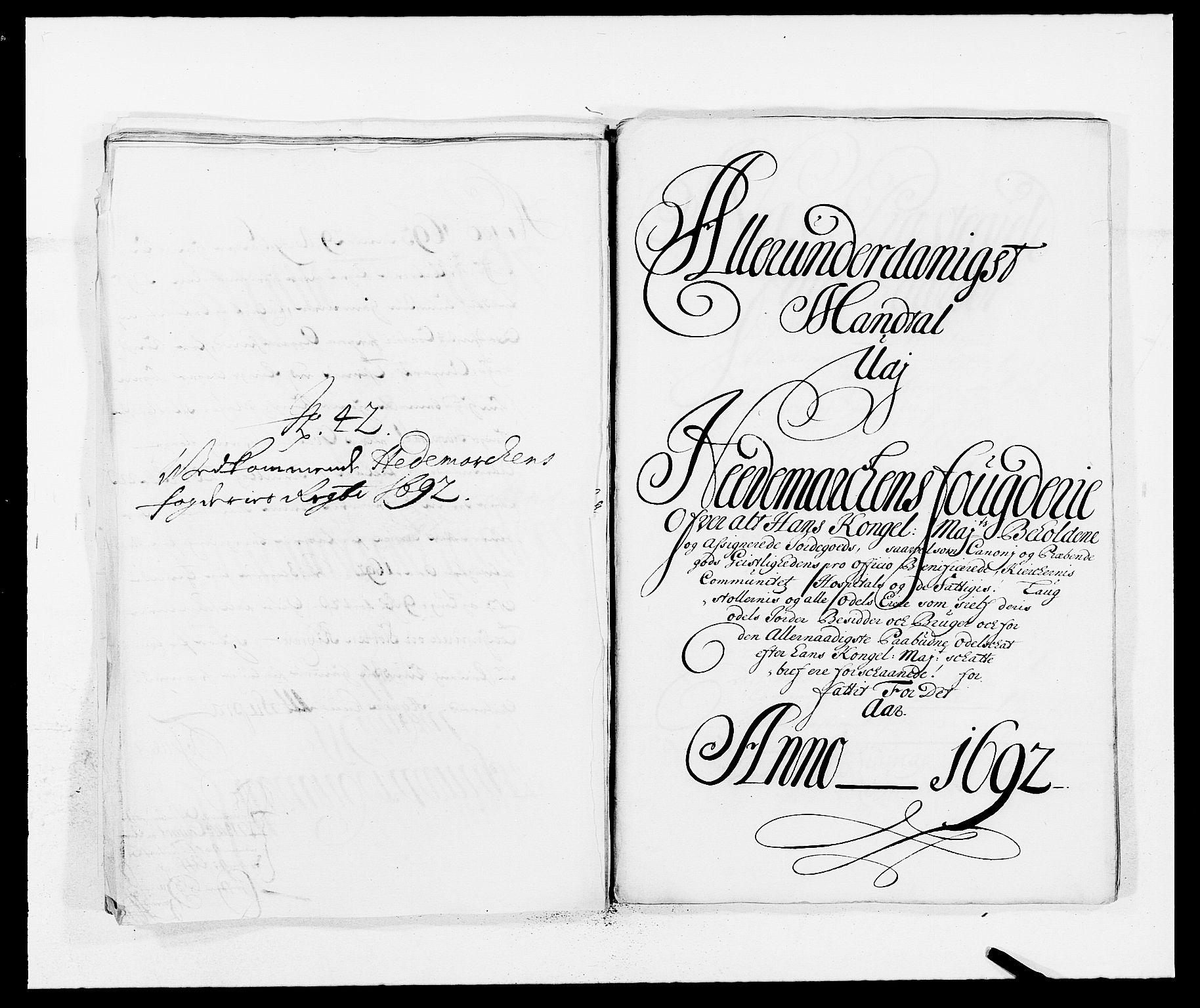 RA, Rentekammeret inntil 1814, Reviderte regnskaper, Fogderegnskap, R16/L1032: Fogderegnskap Hedmark, 1689-1692, s. 102