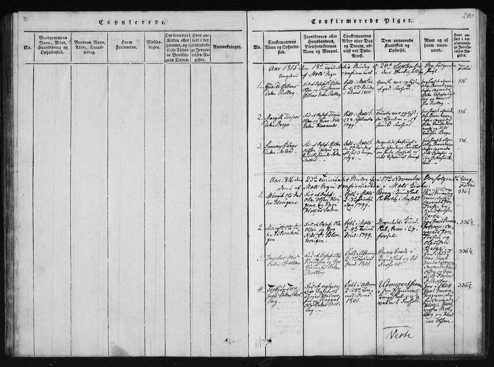 SAKO, Tinn kirkebøker, F/Fb/L0001: Ministerialbok nr. II 1, 1815-1843, s. 240