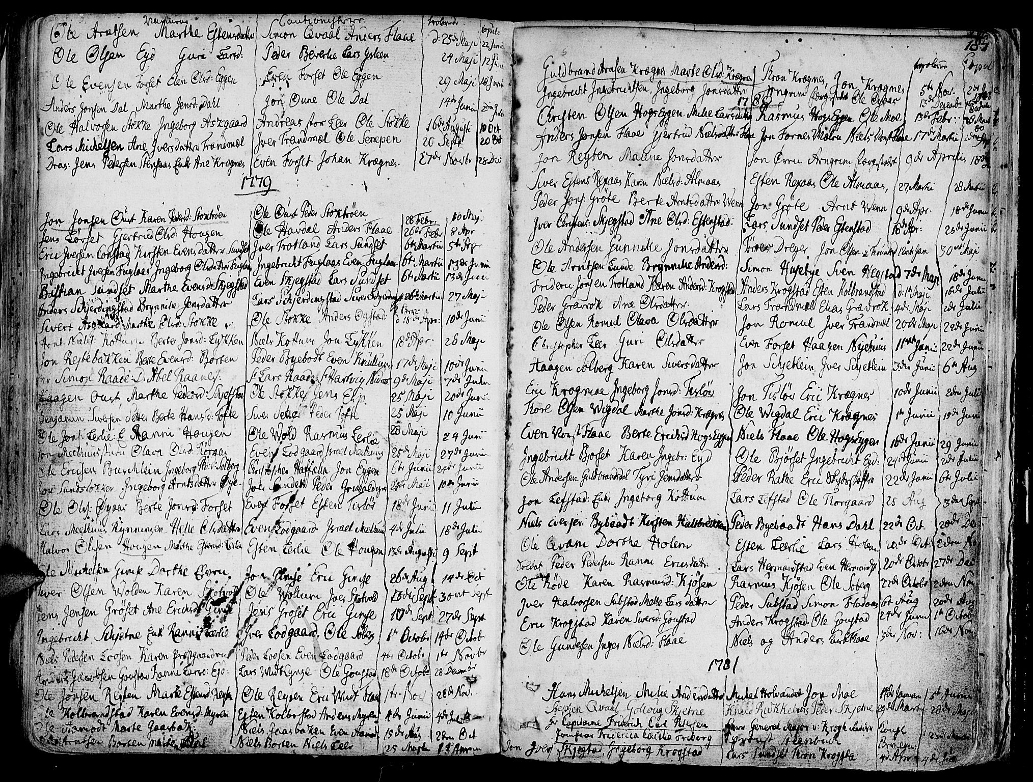 SAT, Ministerialprotokoller, klokkerbøker og fødselsregistre - Sør-Trøndelag, 691/L1061: Ministerialbok nr. 691A02 /1, 1768-1815, s. 184