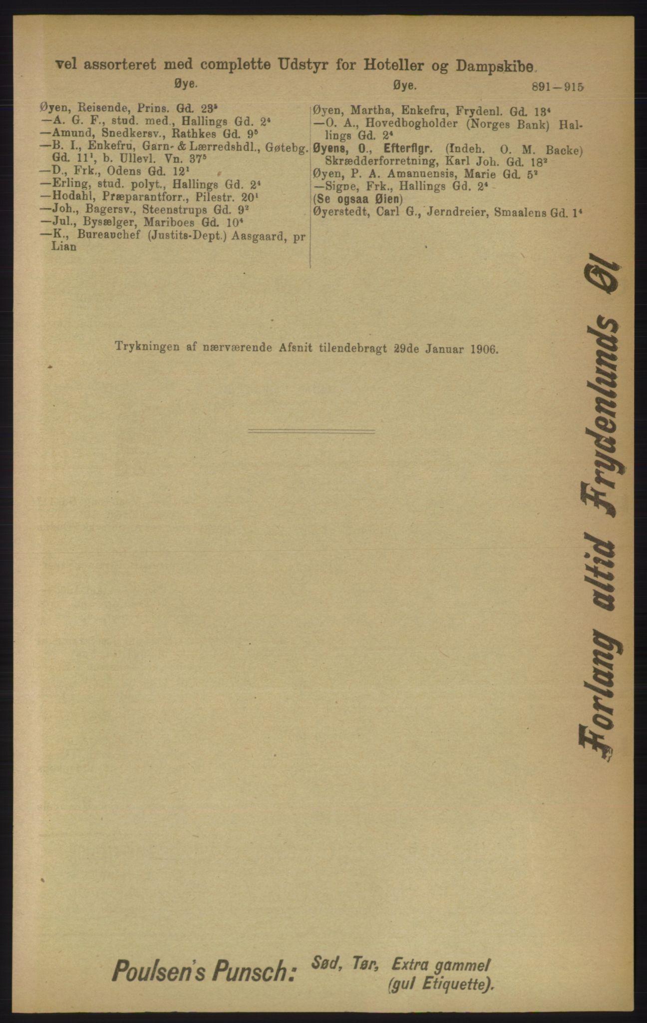 PUBL, Kristiania/Oslo adressebok, 1906, s. 891