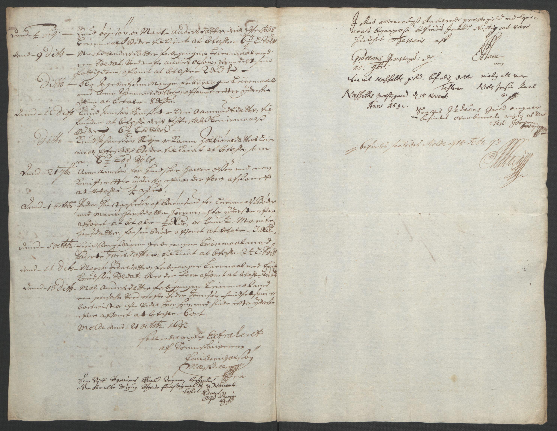 RA, Rentekammeret inntil 1814, Reviderte regnskaper, Fogderegnskap, R55/L3650: Fogderegnskap Romsdal, 1692, s. 166