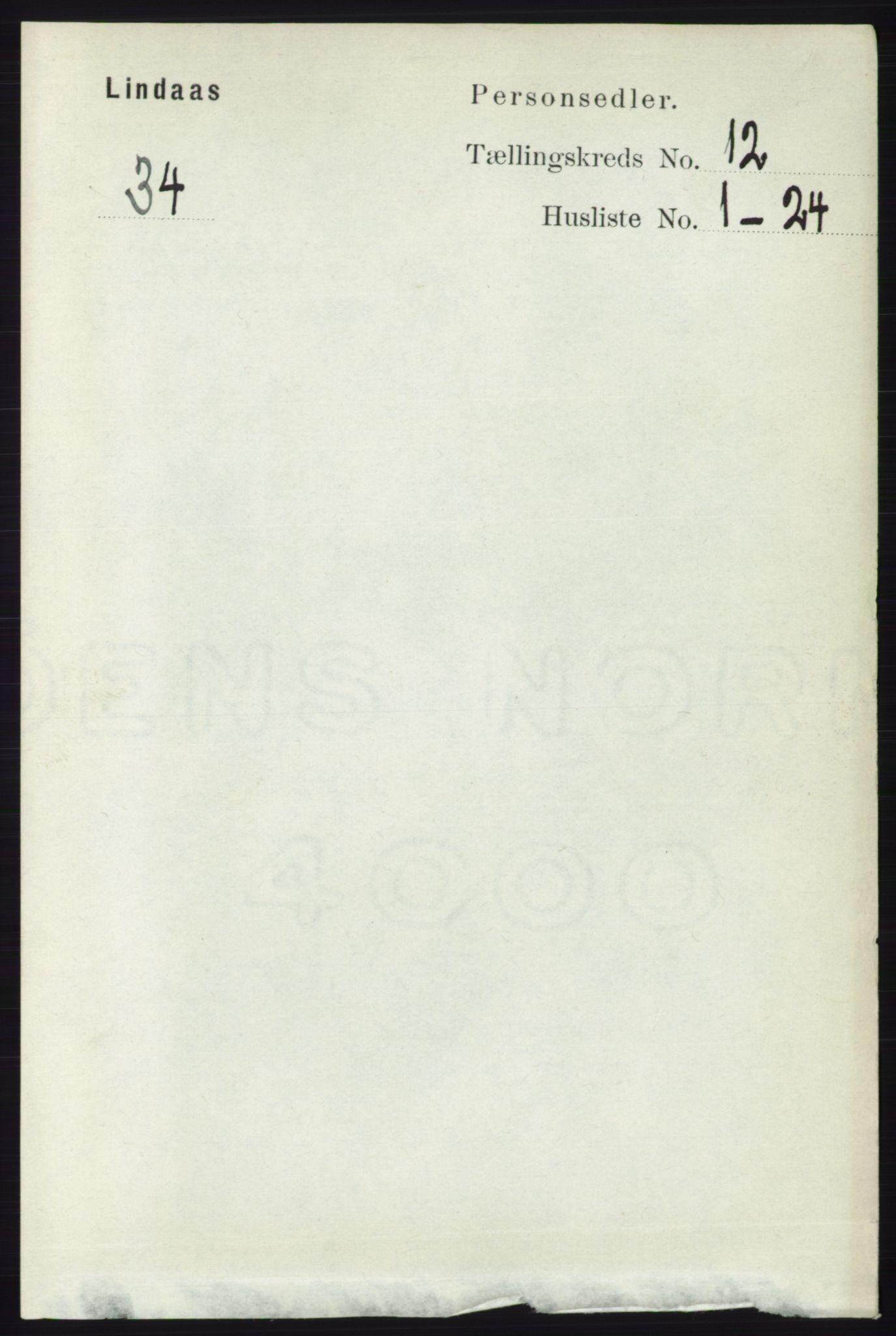 RA, Folketelling 1891 for 1263 Lindås herred, 1891, s. 4036