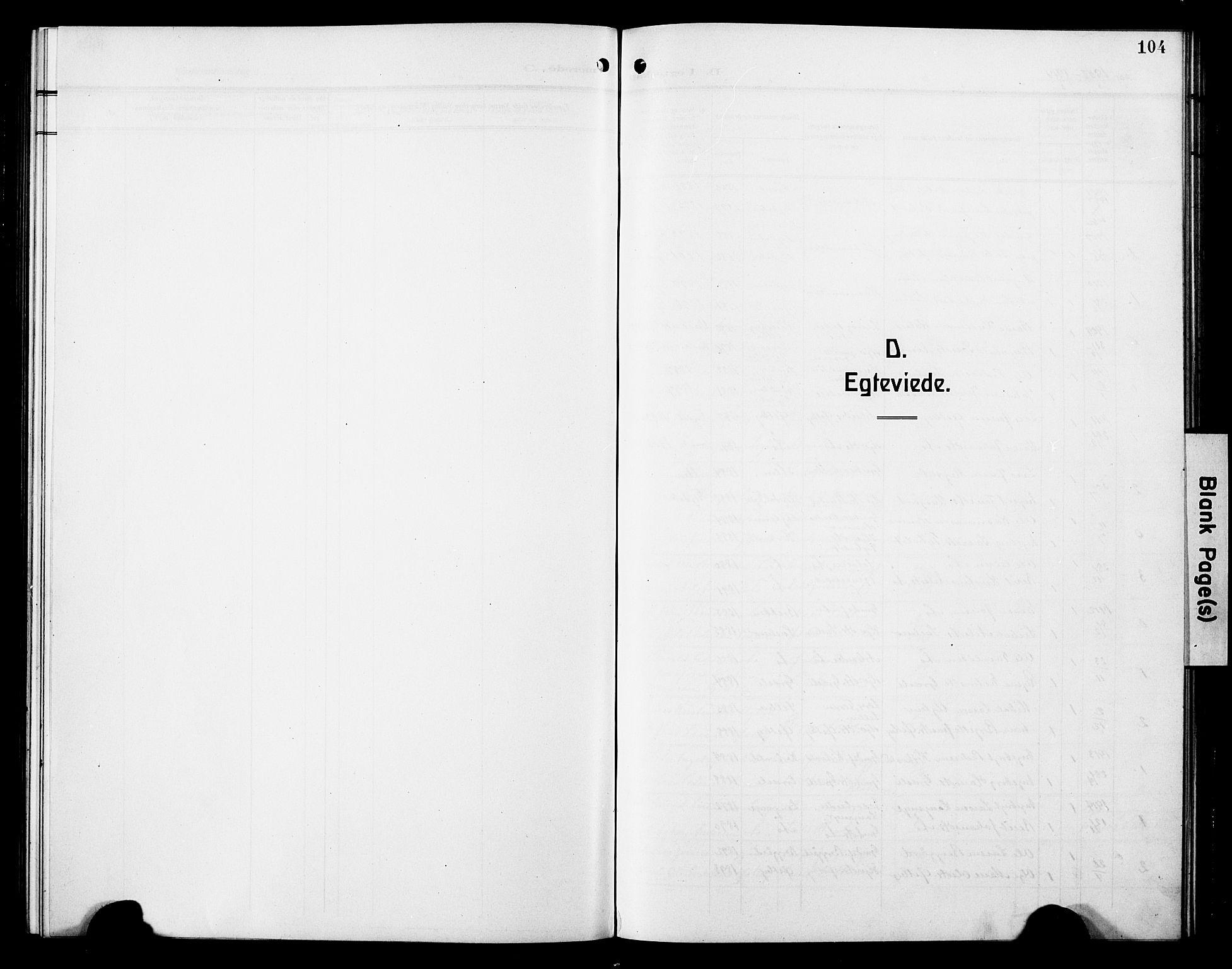 SAT, Ministerialprotokoller, klokkerbøker og fødselsregistre - Sør-Trøndelag, 698/L1168: Klokkerbok nr. 698C05, 1908-1930, s. 104