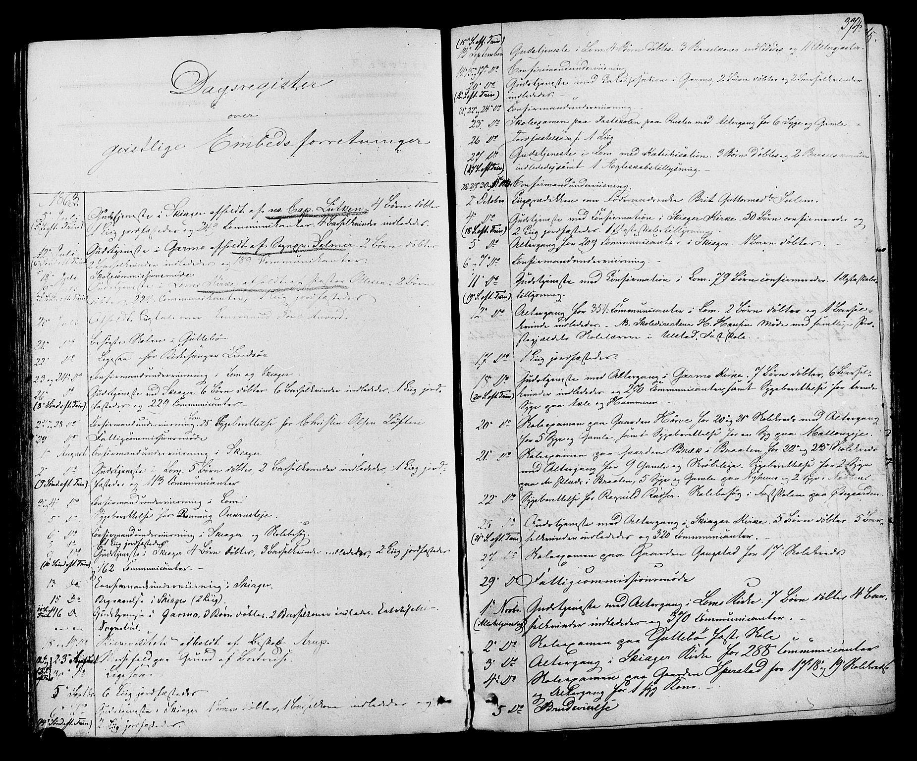 SAH, Lom prestekontor, K/L0007: Ministerialbok nr. 7, 1863-1884, s. 374