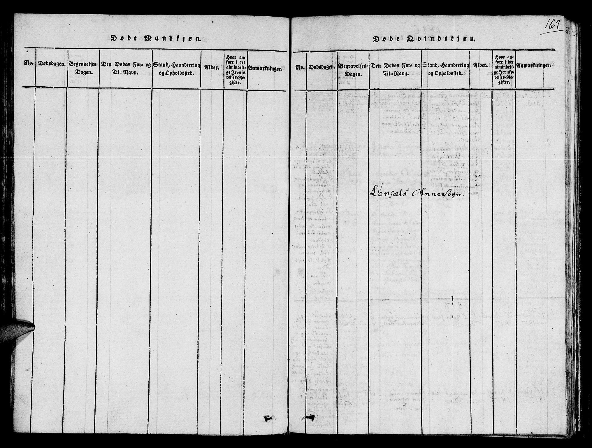 SAT, Ministerialprotokoller, klokkerbøker og fødselsregistre - Sør-Trøndelag, 678/L0896: Ministerialbok nr. 678A05 /2, 1816-1821, s. 167