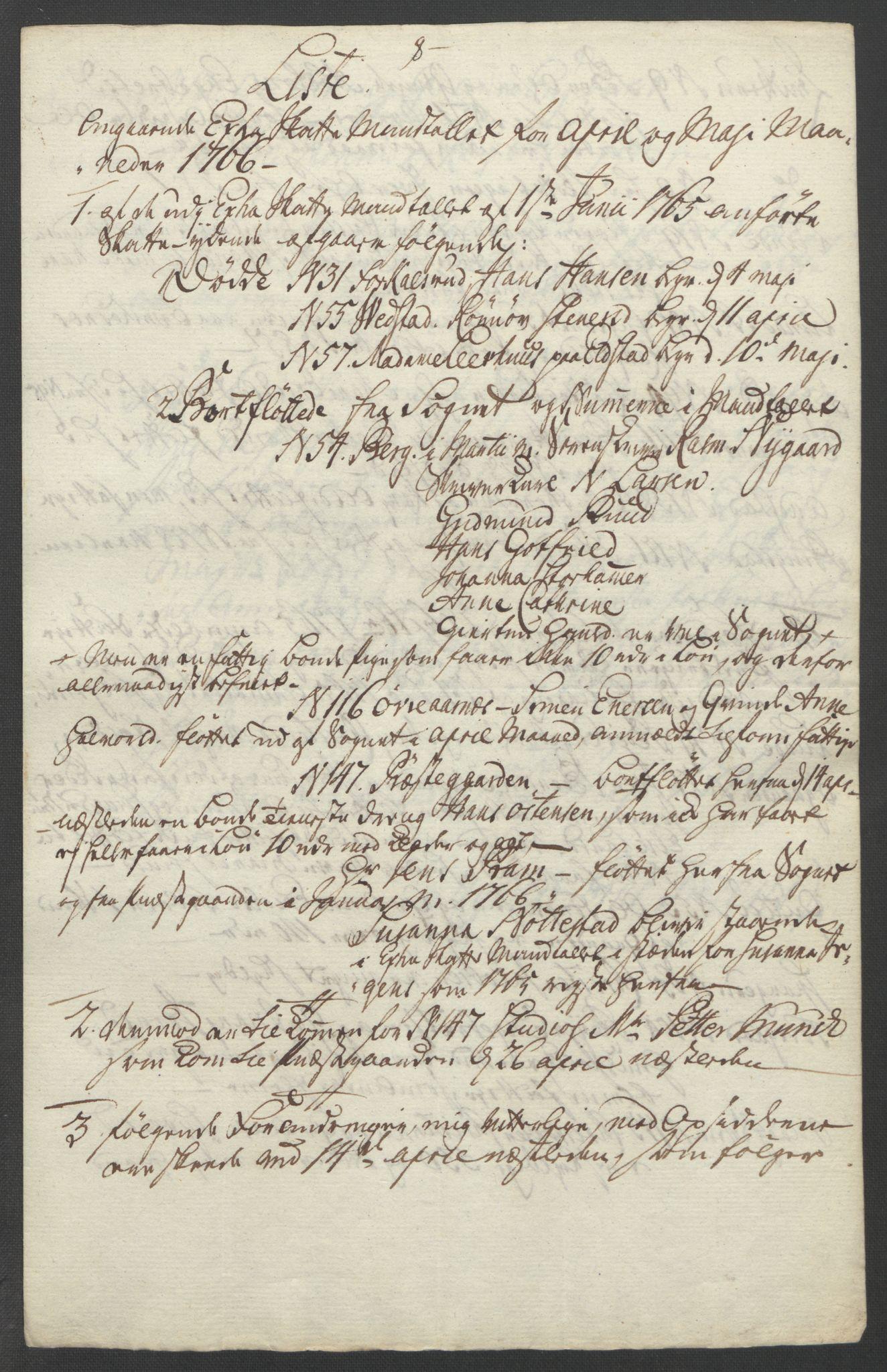RA, Rentekammeret inntil 1814, Reviderte regnskaper, Fogderegnskap, R17/L1266: Ekstraskatten Gudbrandsdal, 1762-1766, s. 561