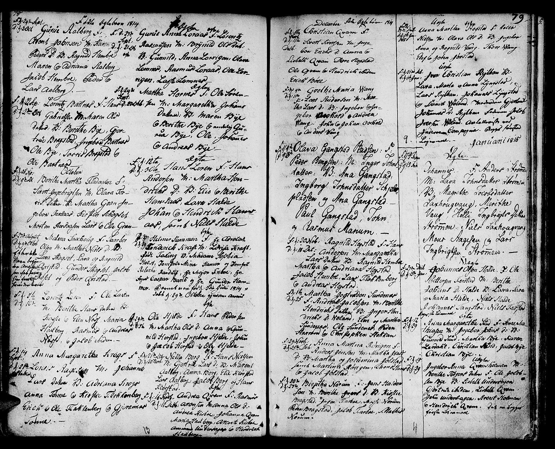 SAT, Ministerialprotokoller, klokkerbøker og fødselsregistre - Nord-Trøndelag, 730/L0274: Ministerialbok nr. 730A03, 1802-1816, s. 78-79