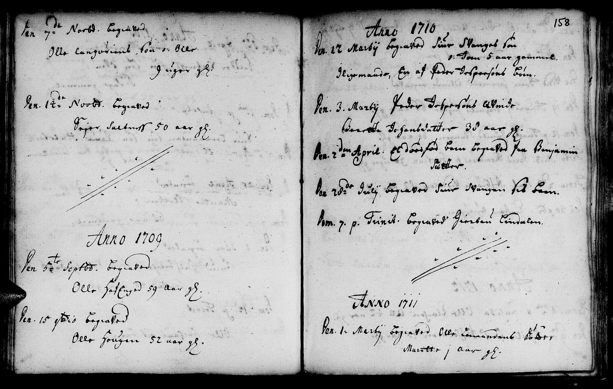 SAT, Ministerialprotokoller, klokkerbøker og fødselsregistre - Sør-Trøndelag, 666/L0783: Ministerialbok nr. 666A01, 1702-1753, s. 158