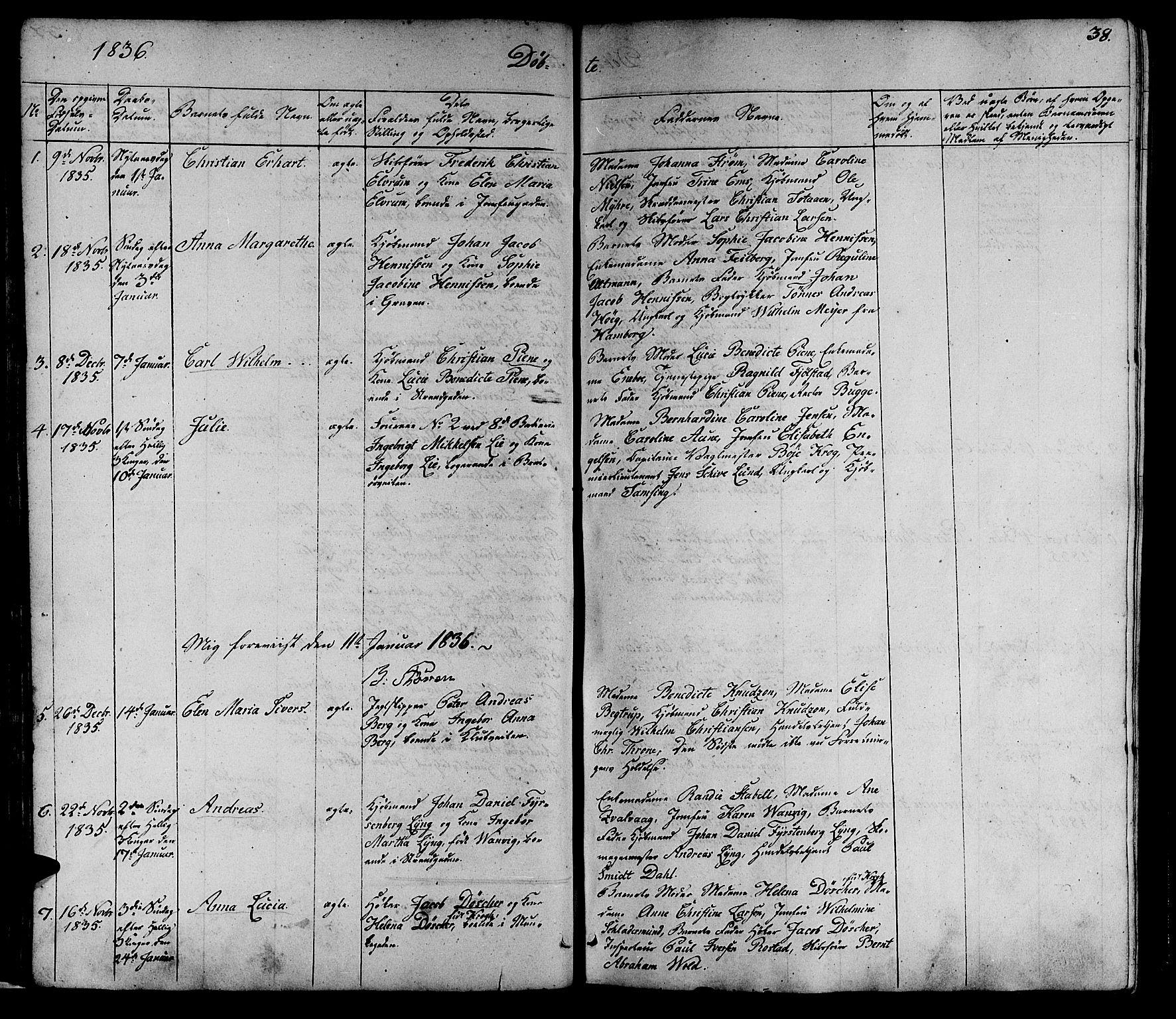SAT, Ministerialprotokoller, klokkerbøker og fødselsregistre - Sør-Trøndelag, 602/L0136: Klokkerbok nr. 602C04, 1833-1845, s. 38