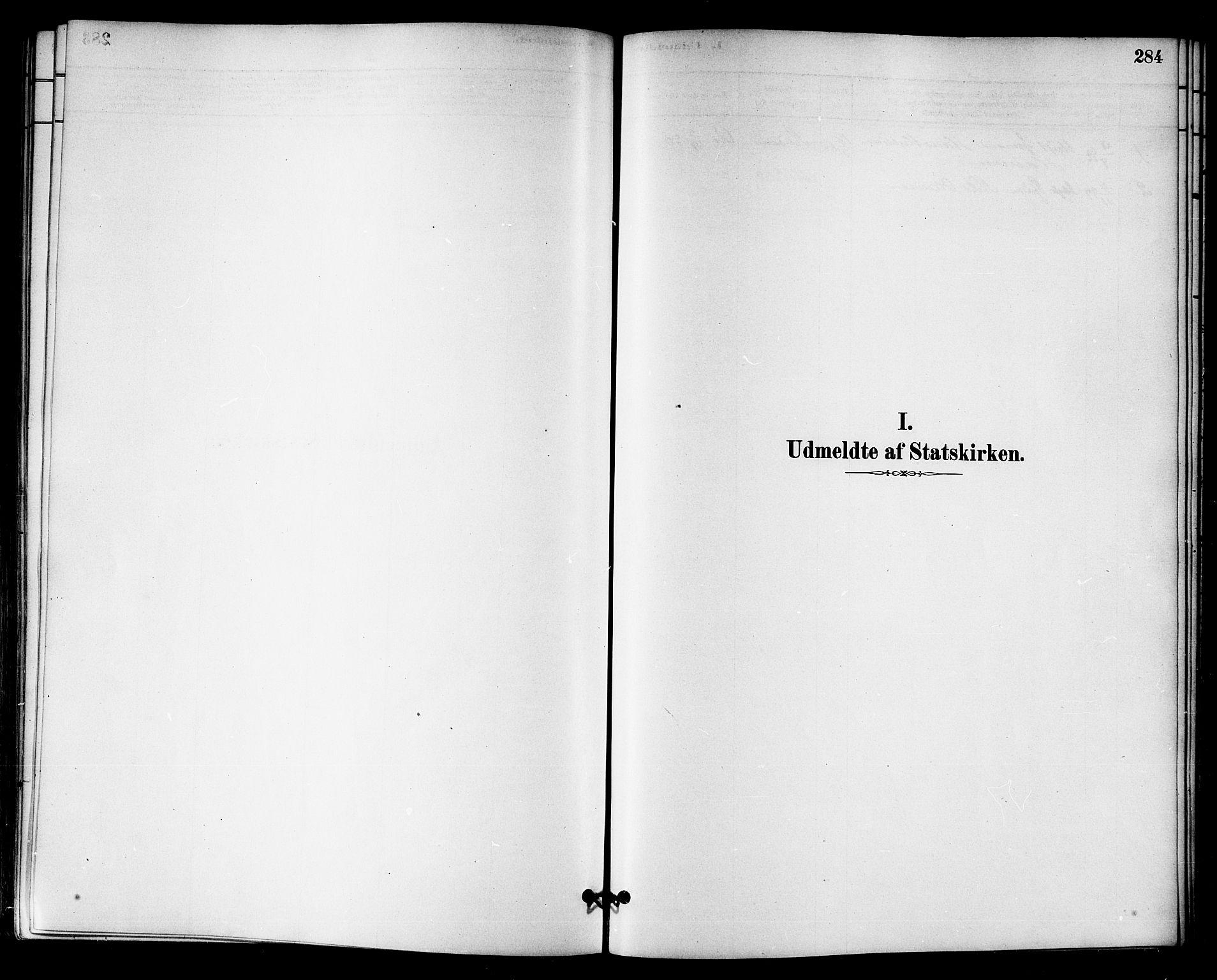 SAT, Ministerialprotokoller, klokkerbøker og fødselsregistre - Sør-Trøndelag, 655/L0680: Ministerialbok nr. 655A09, 1880-1894, s. 284