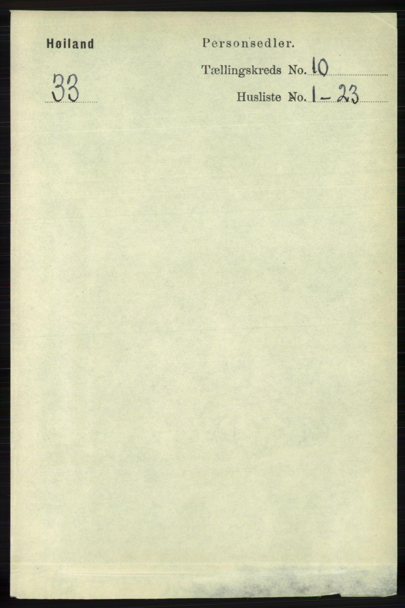 RA, Folketelling 1891 for 1123 Høyland herred, 1891, s. 4100