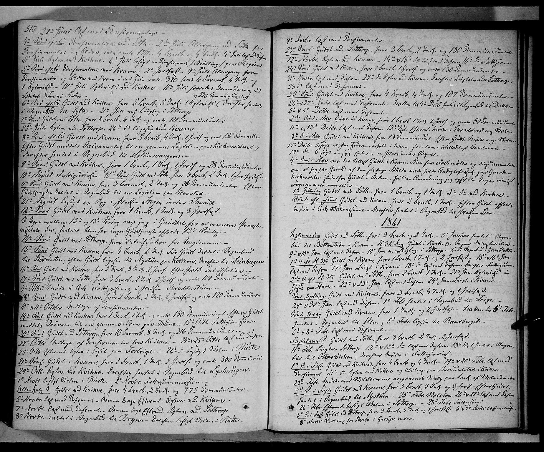 SAH, Nord-Fron prestekontor, Ministerialbok nr. 1, 1851-1864, s. 510