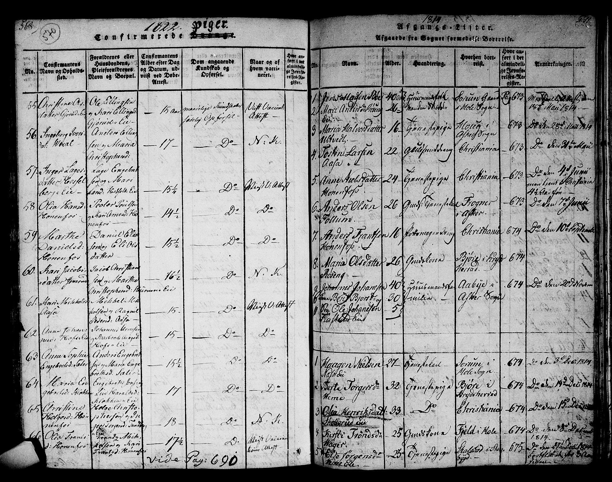 SAKO, Norderhov kirkebøker, F/Fa/L0008: Ministerialbok nr. 8, 1814-1833, s. 570-571