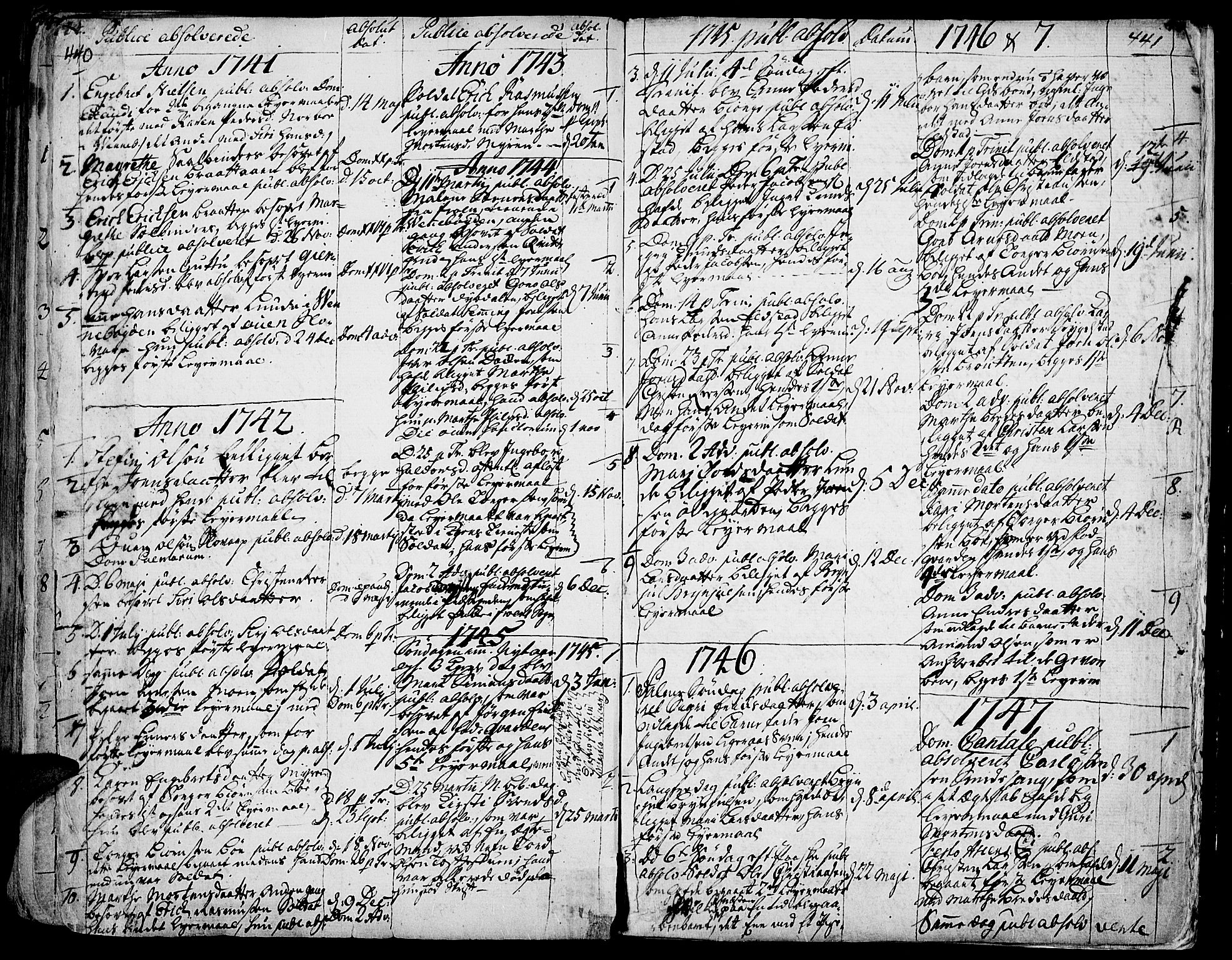 SAH, Ringebu prestekontor, Ministerialbok nr. 2, 1734-1780, s. 440-441