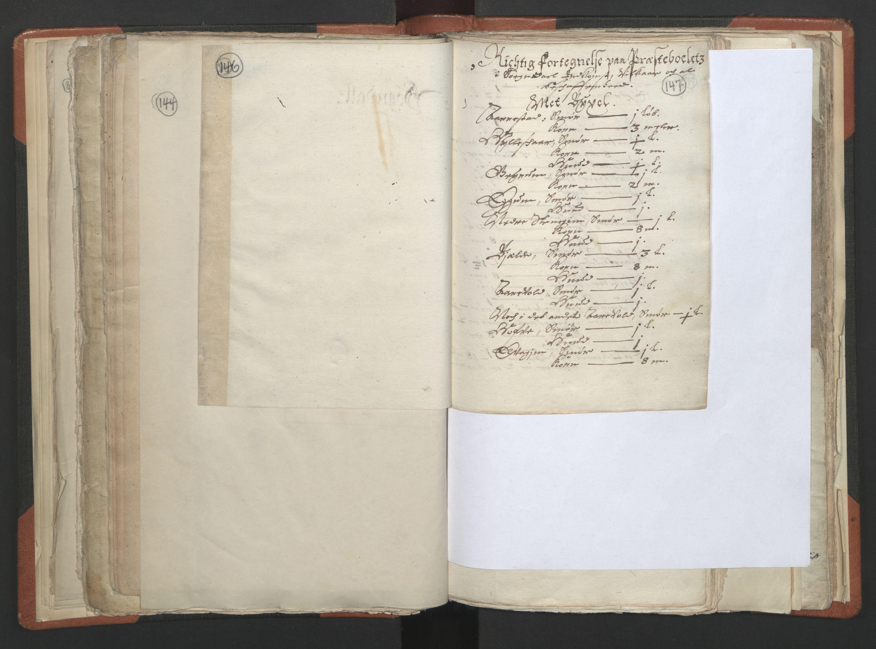 RA, Sogneprestenes manntall 1664-1666, nr. 23: Sogn prosti, 1664-1666, s. 146-147