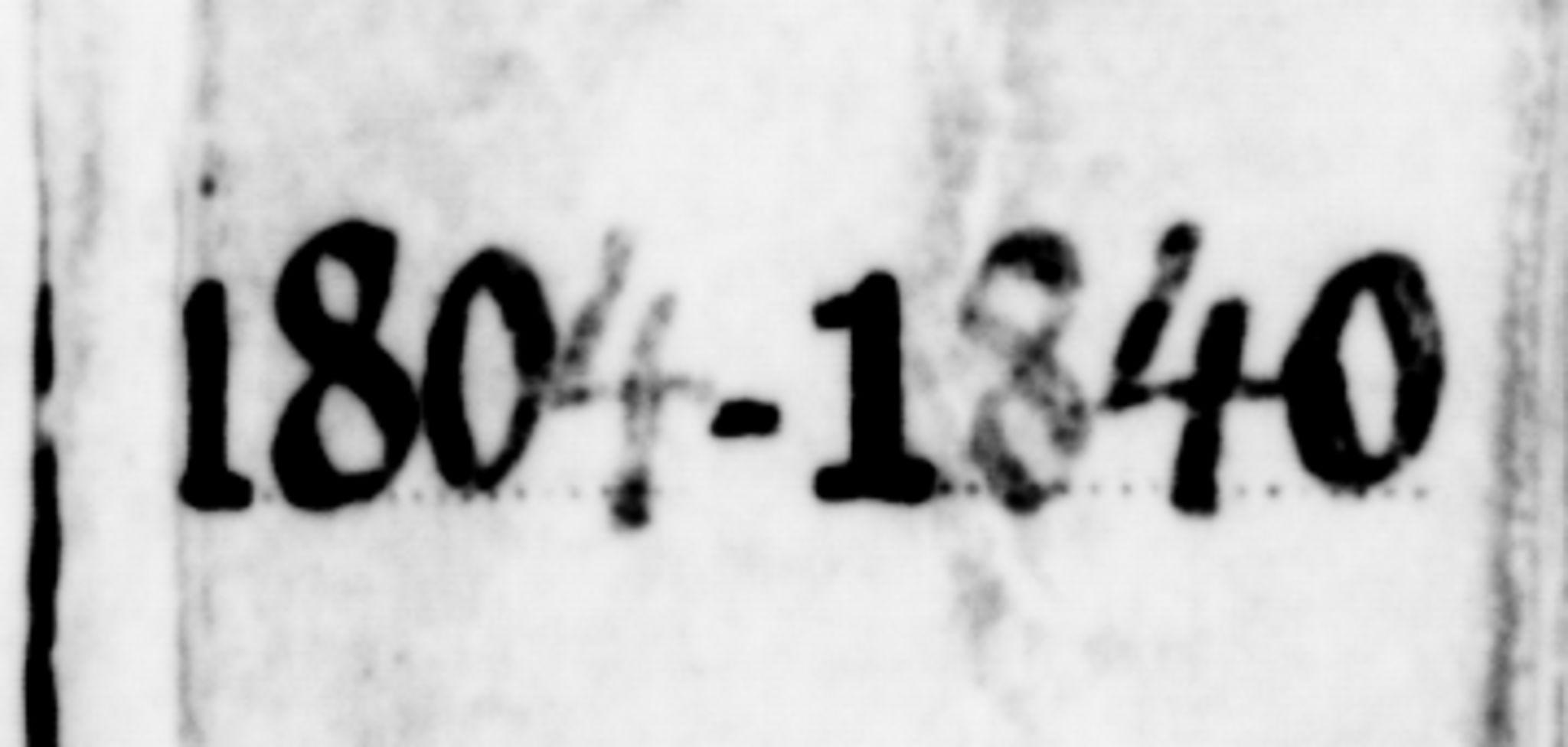SAT, Ministerialprotokoller, klokkerbøker og fødselsregistre - Møre og Romsdal, 551/L0622: Ministerialbok nr. 551A02, 1804-1845