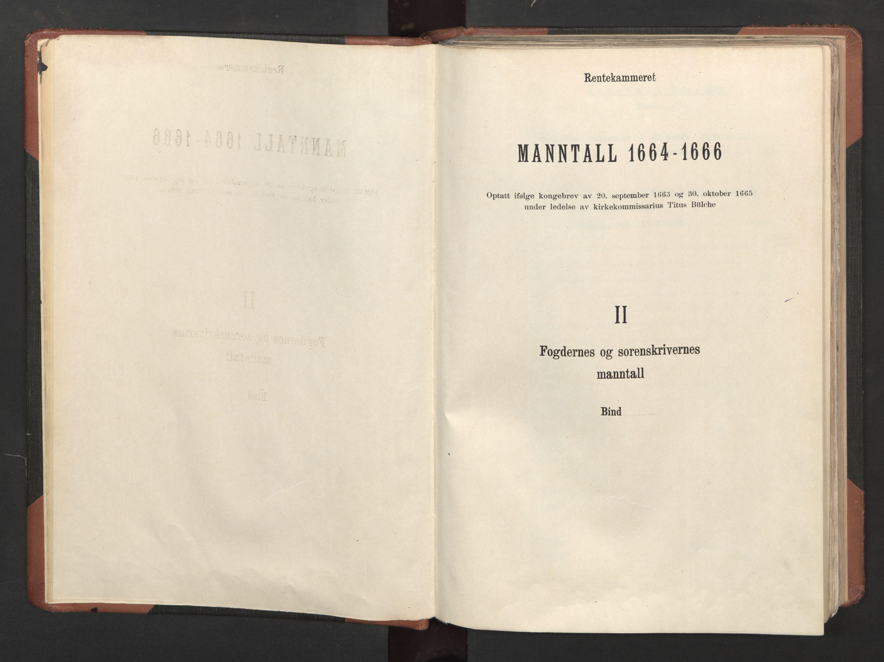 RA, Fogdenes og sorenskrivernes manntall 1664-1666, nr. 6: Øvre og Nedre Telemark fogderi og Bamble fogderi , 1664, s. upaginert