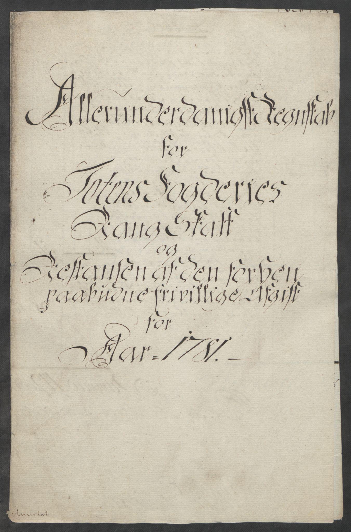 RA, Rentekammeret inntil 1814, Reviderte regnskaper, Fogderegnskap, R19/L1399: Fogderegnskap Toten, Hadeland og Vardal, 1762-1783, s. 530