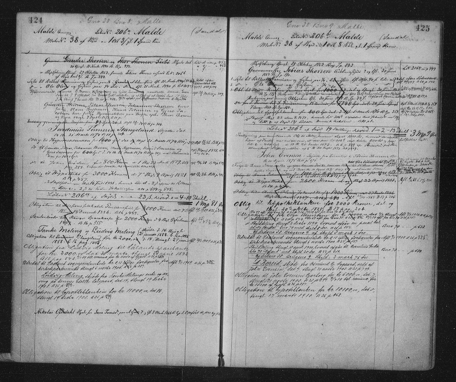 SAST, Jæren sorenskriveri, 4/41/41ABD/L0001: Panteregister nr. 41 ABD1, 1902, s. 424-425