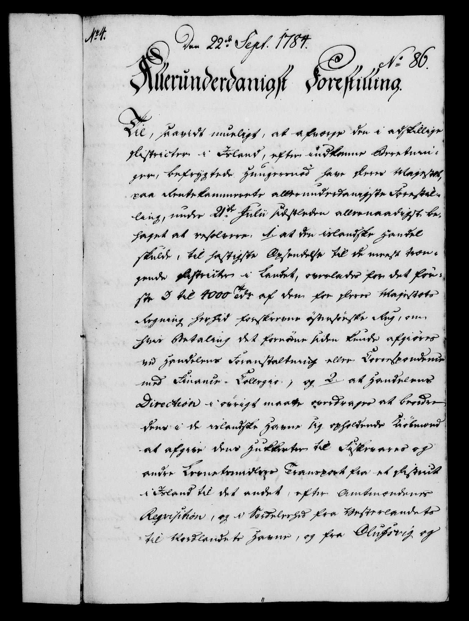 RA, Rentekammeret, Kammerkanselliet, G/Gf/Gfa/L0066: Norsk relasjons- og resolusjonsprotokoll (merket RK 52.66), 1784, s. 601