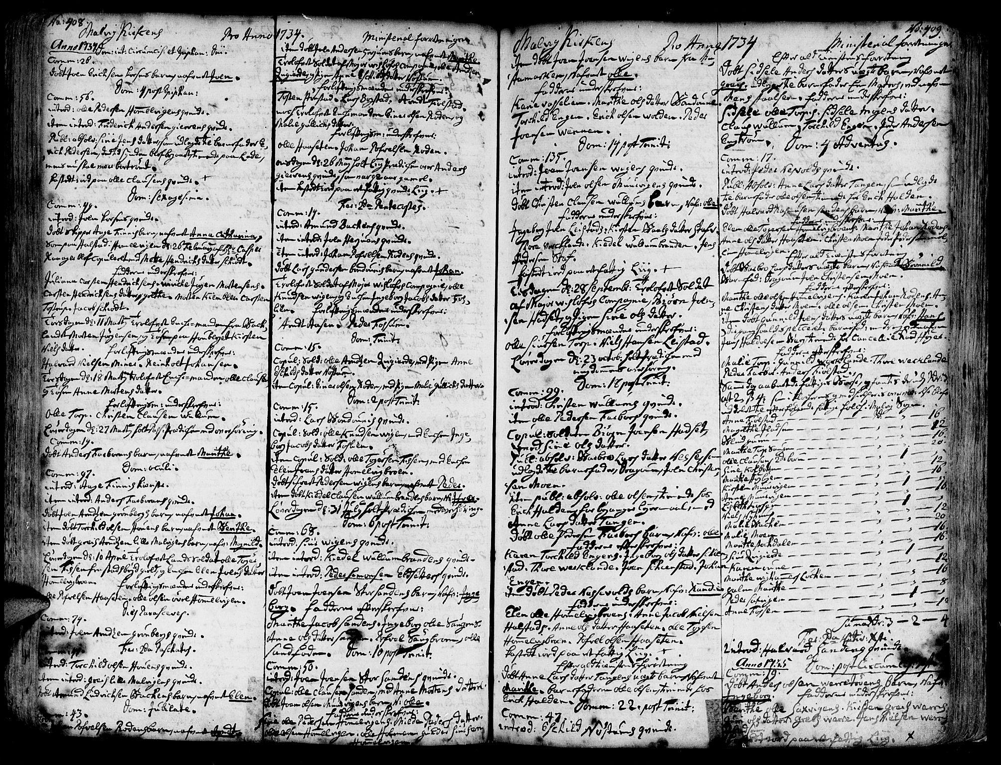 SAT, Ministerialprotokoller, klokkerbøker og fødselsregistre - Sør-Trøndelag, 606/L0277: Ministerialbok nr. 606A01 /3, 1727-1780, s. 408-409