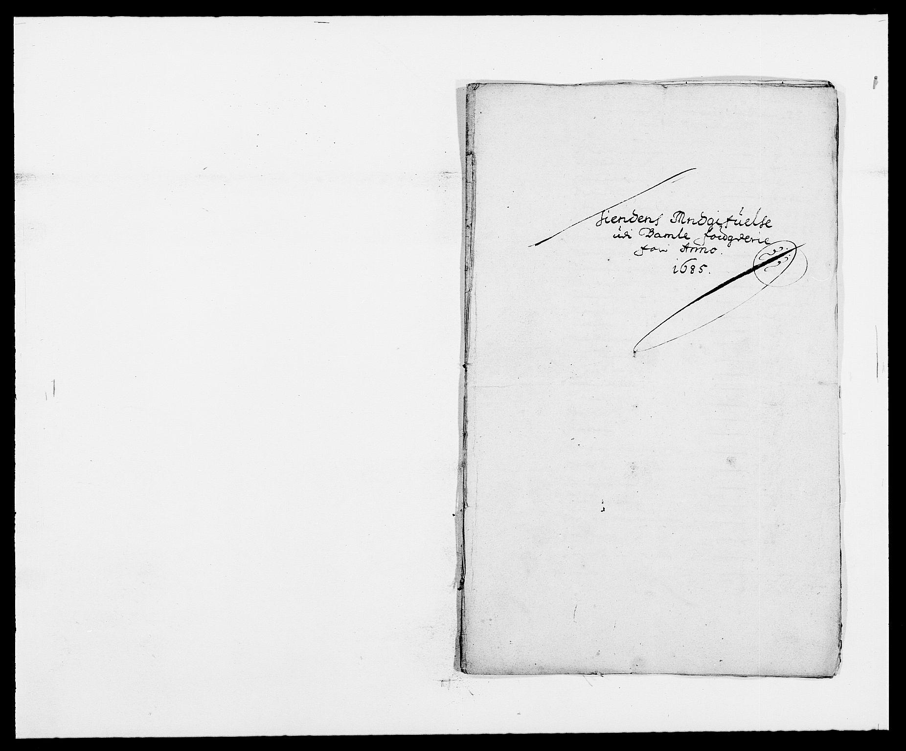 RA, Rentekammeret inntil 1814, Reviderte regnskaper, Fogderegnskap, R34/L2048: Fogderegnskap Bamble, 1685-1687, s. 62