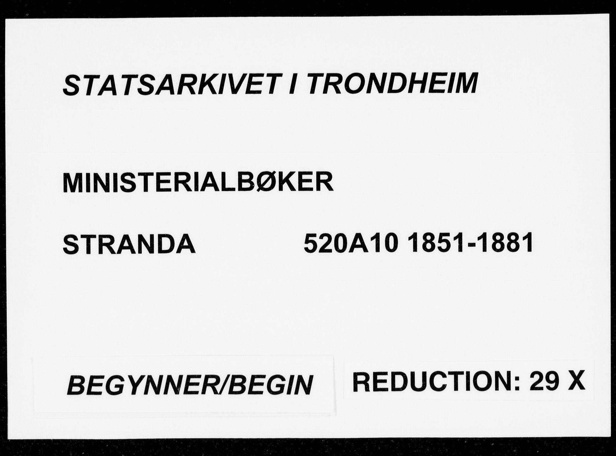 SAT, Ministerialprotokoller, klokkerbøker og fødselsregistre - Møre og Romsdal, 520/L0281: Ministerialbok nr. 520A10, 1851-1881