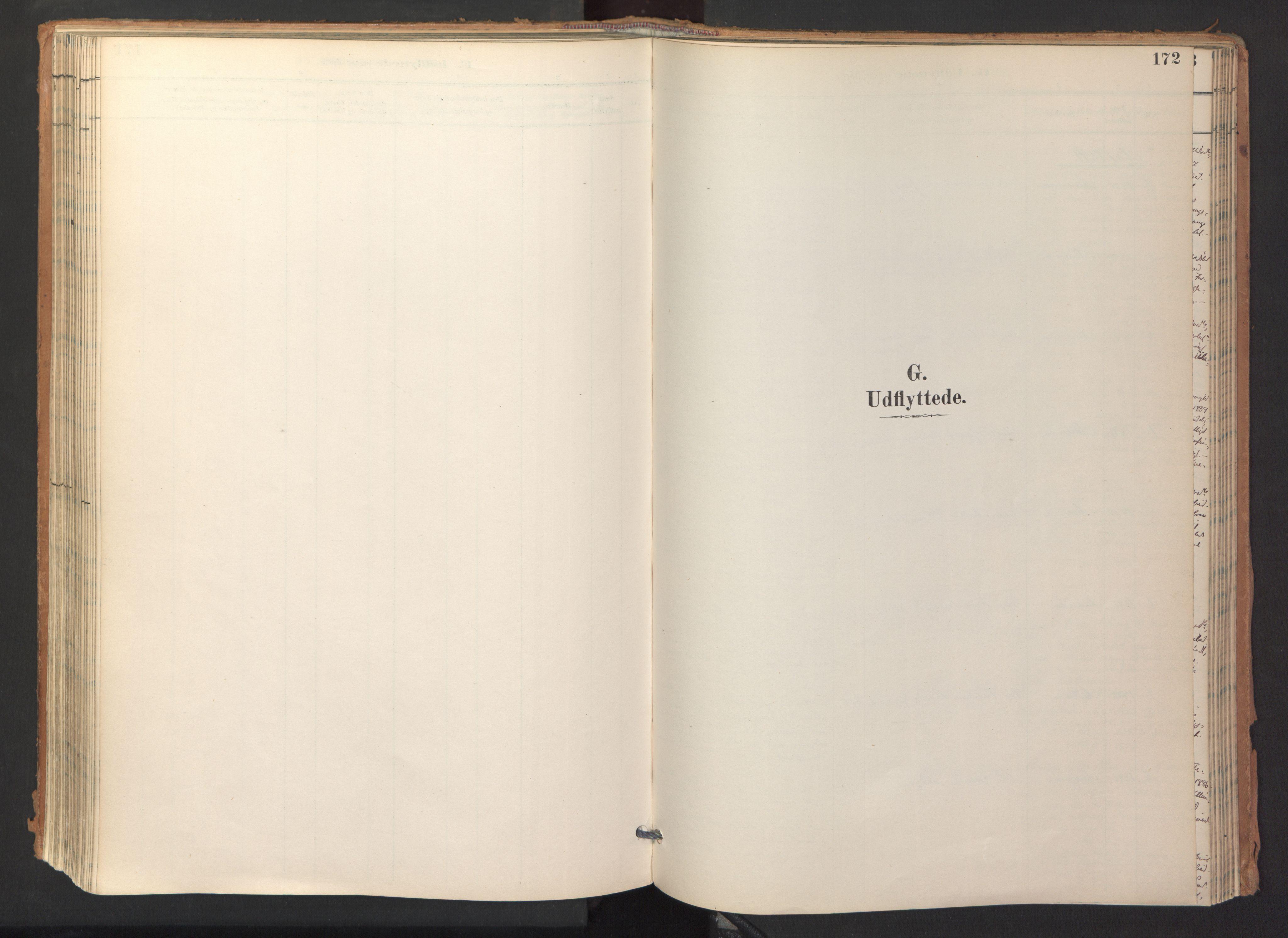 SAT, Ministerialprotokoller, klokkerbøker og fødselsregistre - Sør-Trøndelag, 688/L1025: Ministerialbok nr. 688A02, 1891-1909, s. 172
