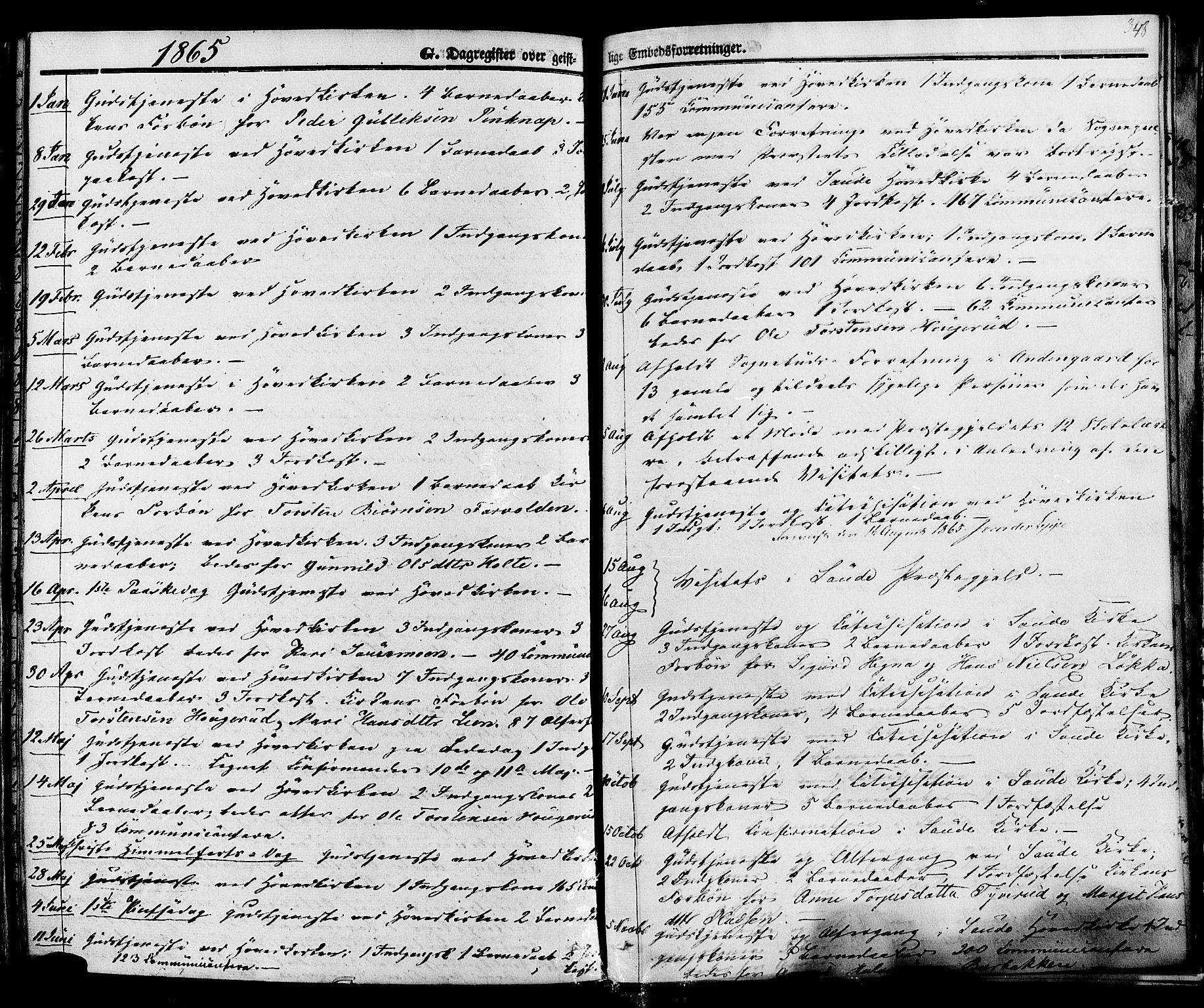 SAKO, Sauherad kirkebøker, F/Fa/L0007: Ministerialbok nr. I 7, 1851-1873, s. 348