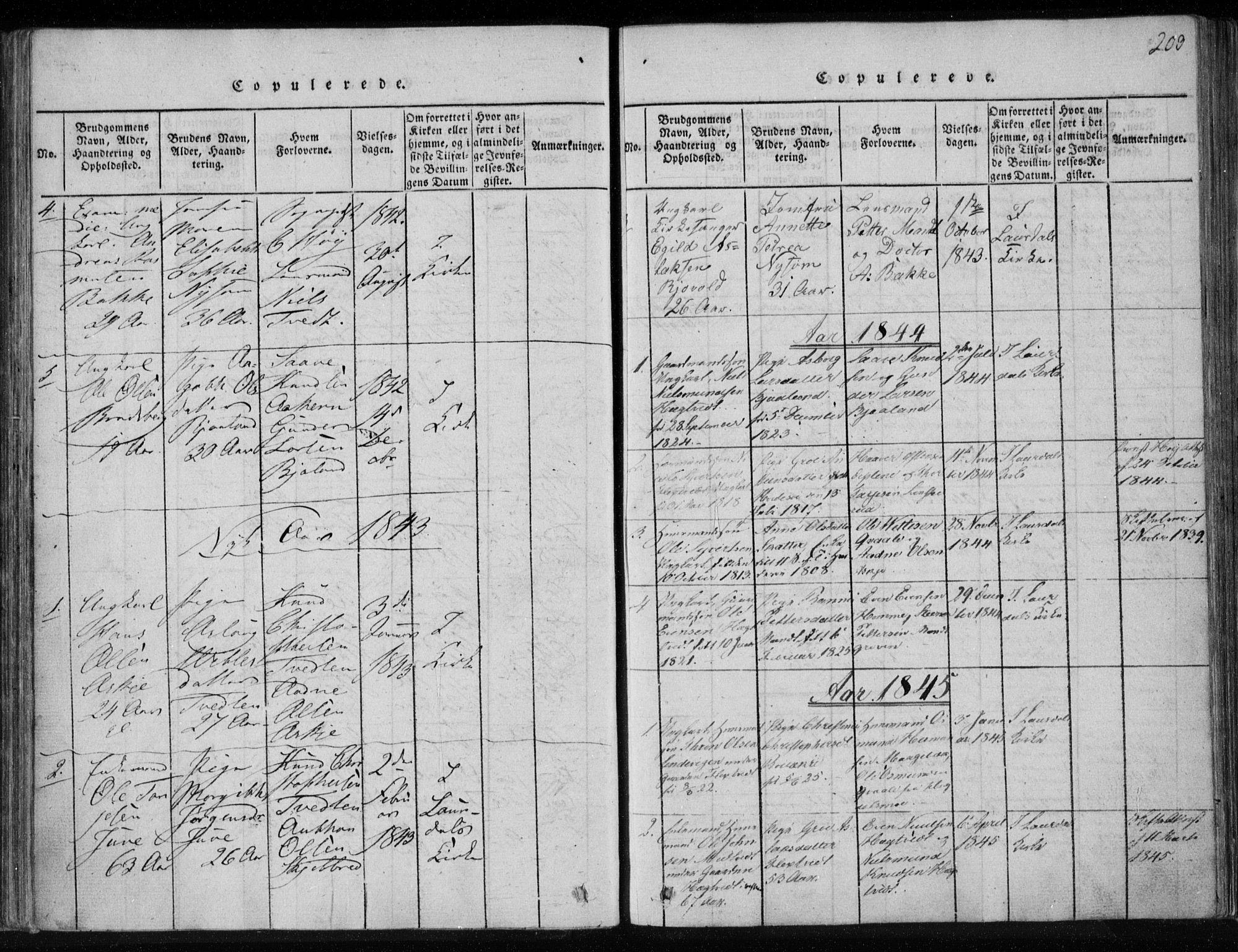 SAKO, Lårdal kirkebøker, F/Fa/L0005: Ministerialbok nr. I 5, 1815-1860, s. 203