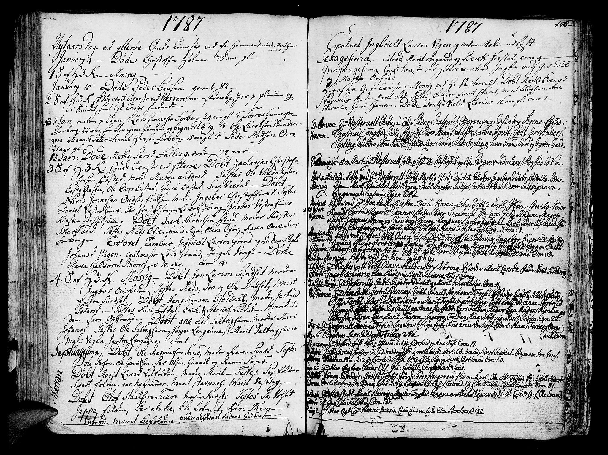 SAT, Ministerialprotokoller, klokkerbøker og fødselsregistre - Nord-Trøndelag, 722/L0216: Ministerialbok nr. 722A03, 1756-1816, s. 108
